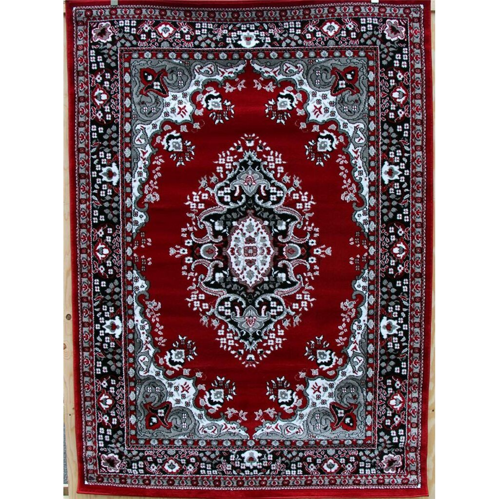 Persian-rugs Oriental Isfahan Red Area Rug & Reviews