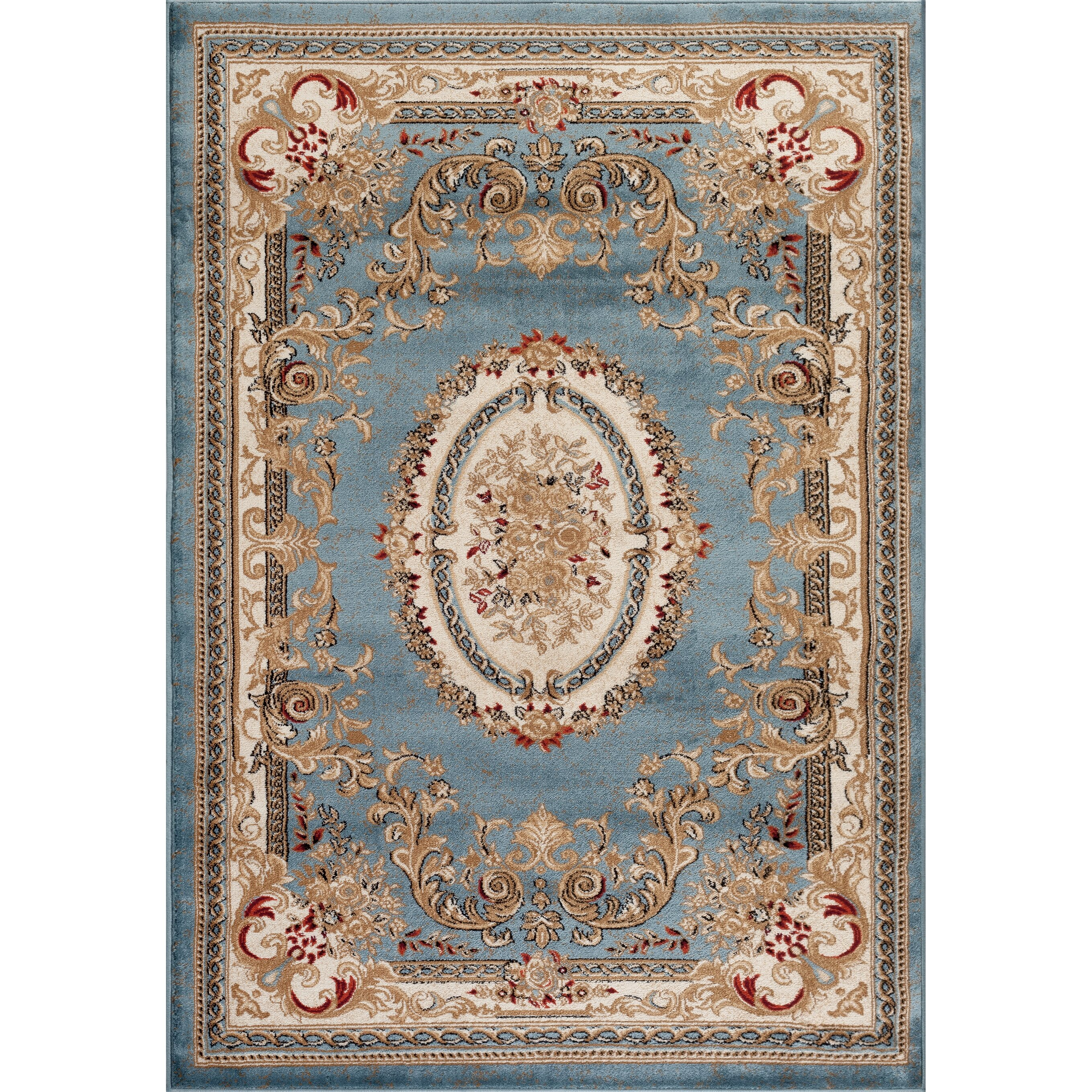 Persian-rugs Traditional Blue Area Rug & Reviews