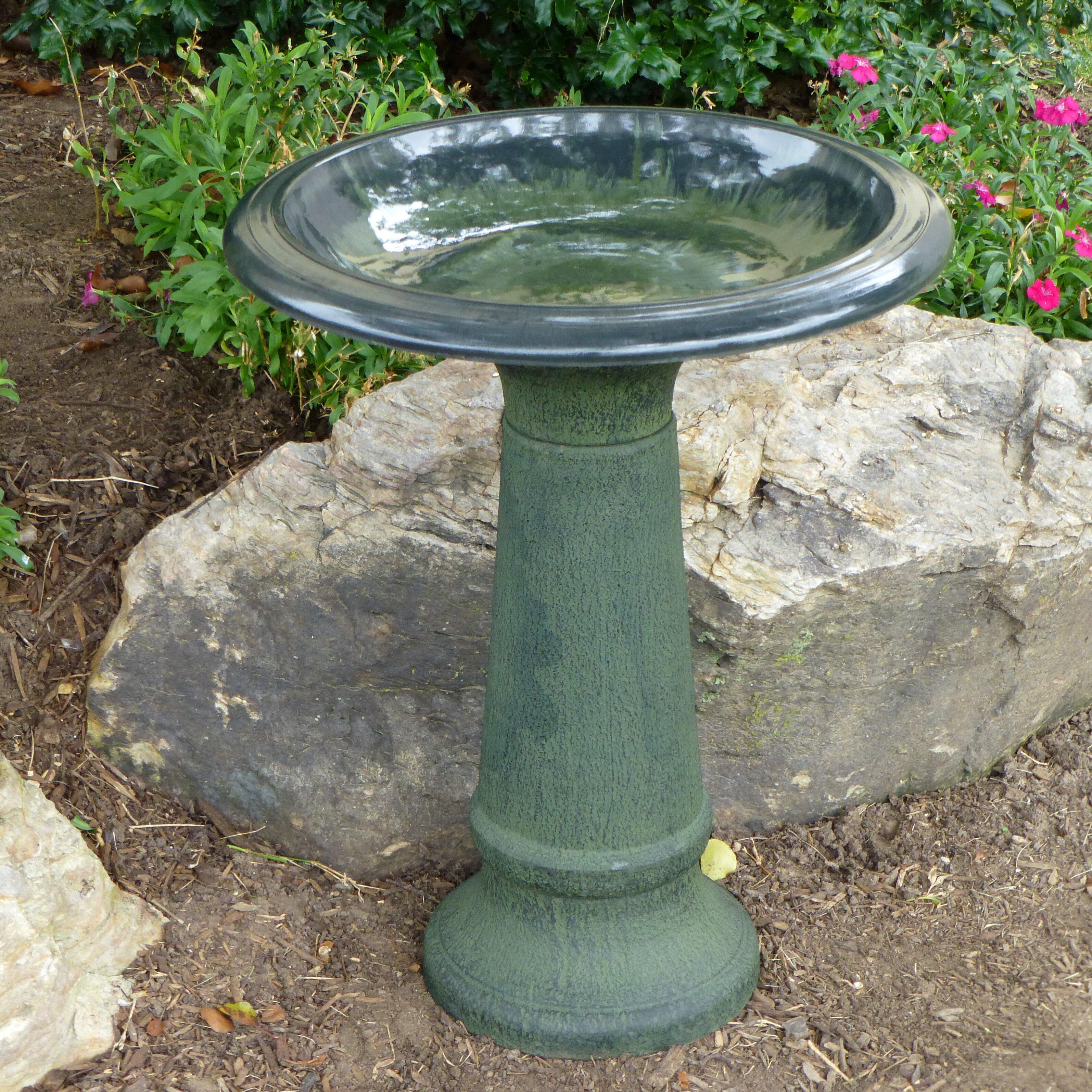 Tierra Garden Fiber Clay Bird Bath Reviews Wayfair