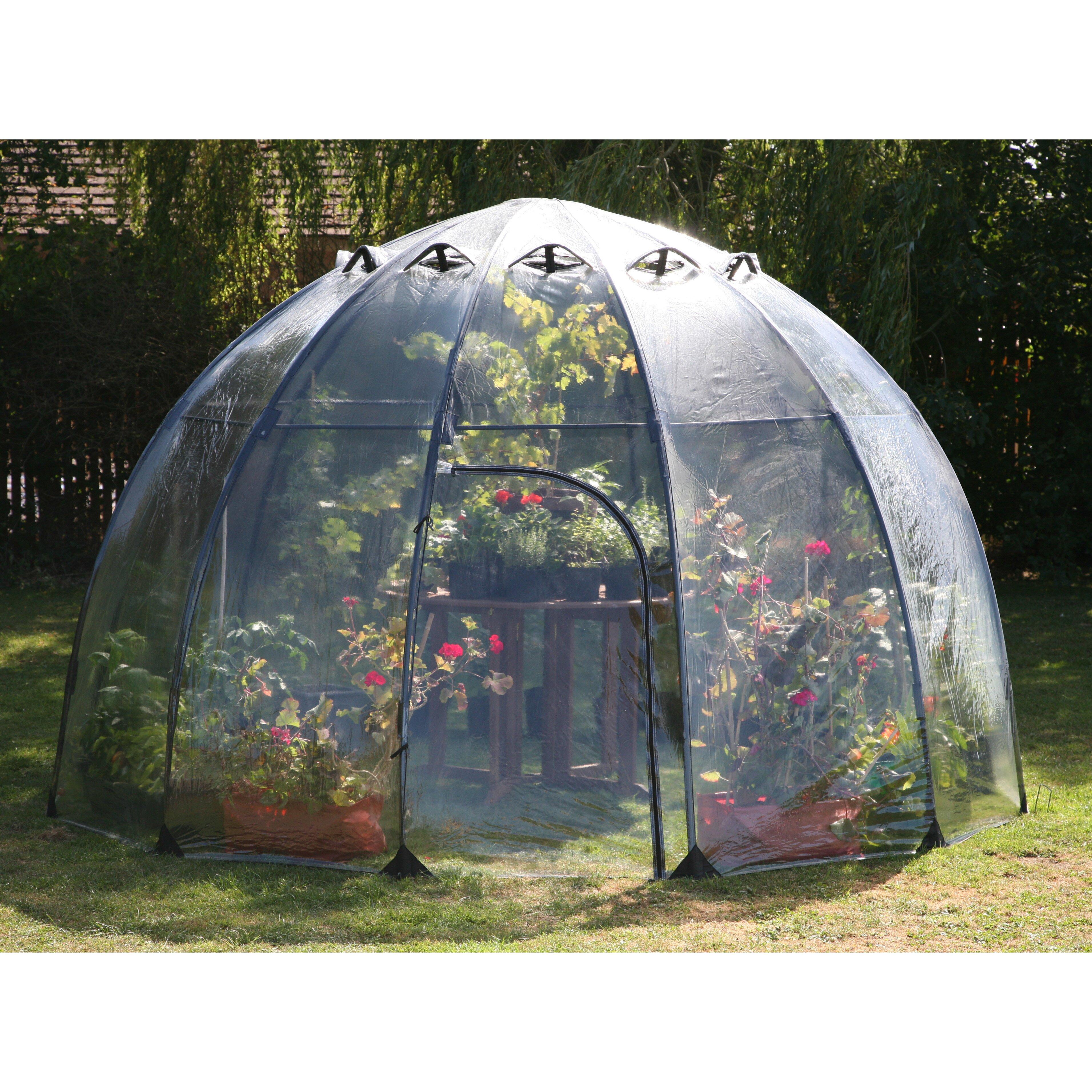 Tierra Garden Haxnicks 11 5 Ft W X 11 5 Ft D Greenhouse
