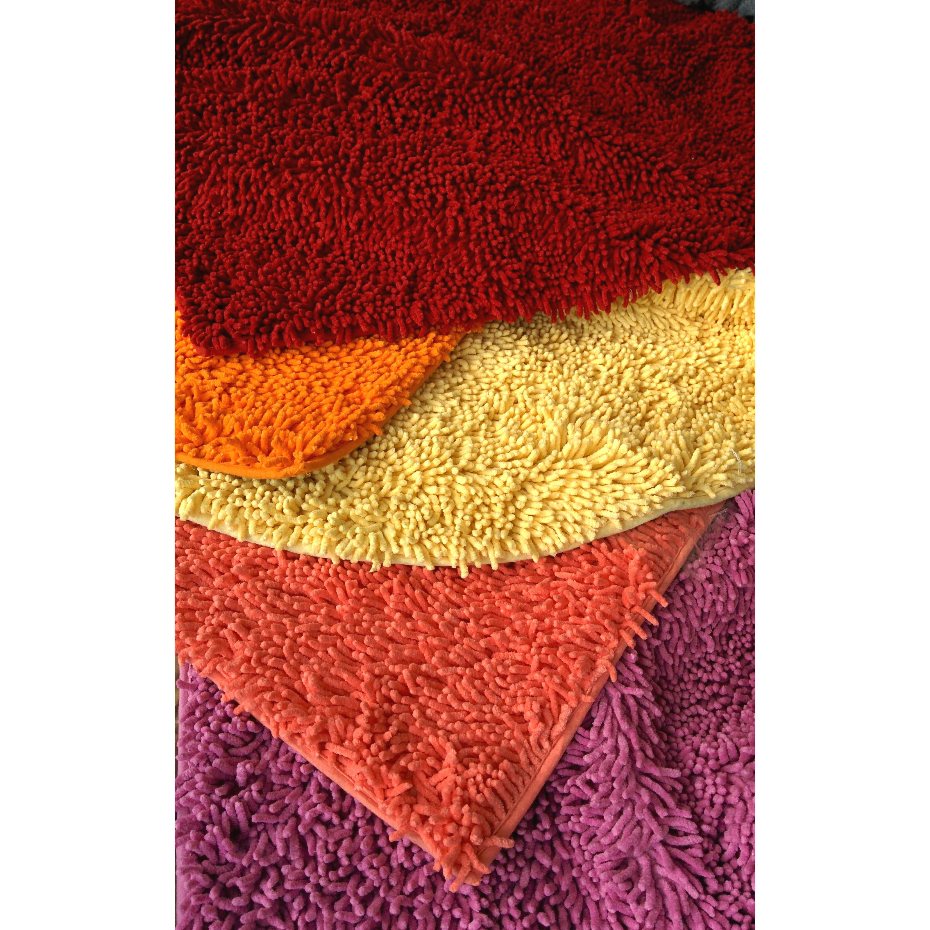 Tache home fashion chenille red area rug wayfair for Home decorators chenille rug