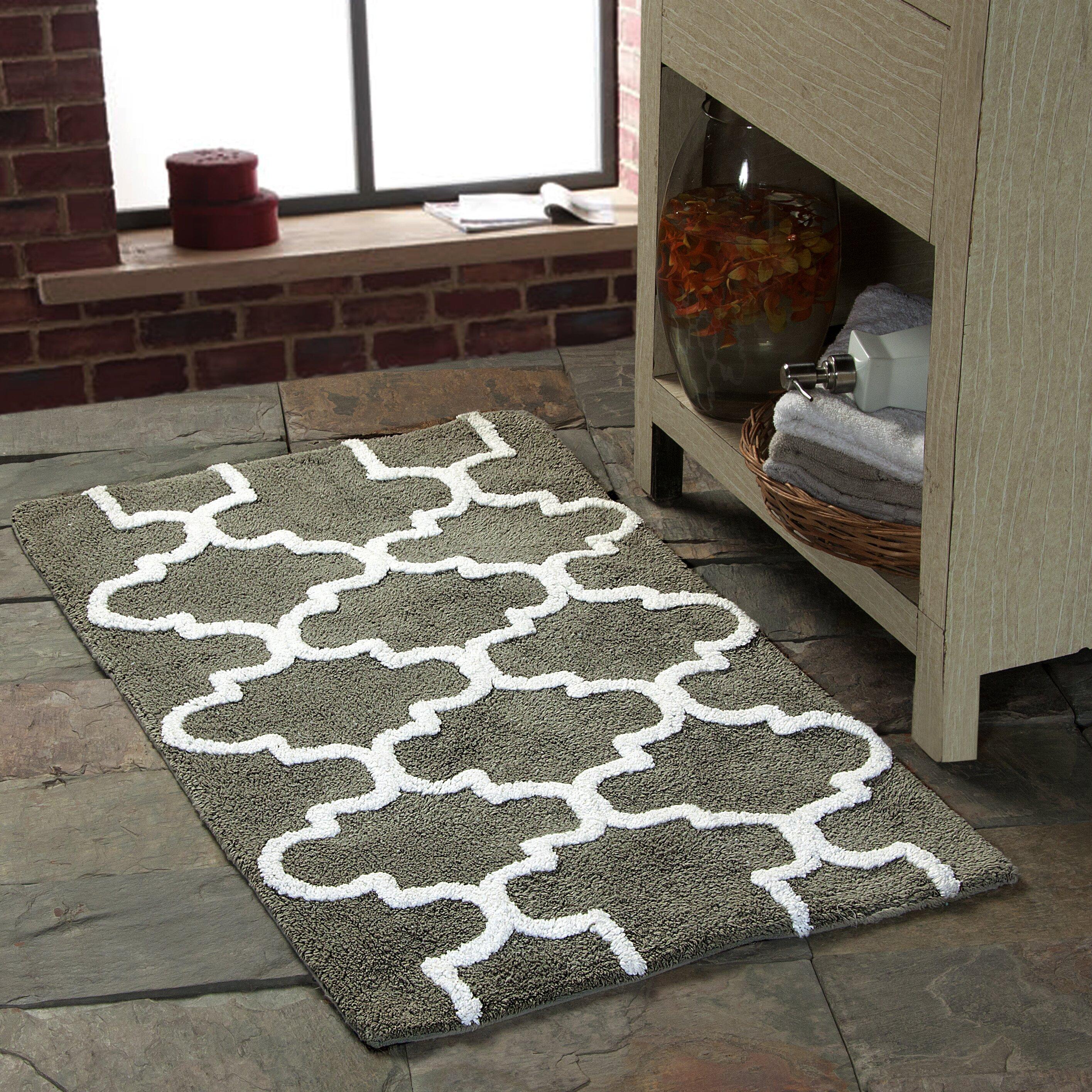 saffron fabs geometric bath rug reviews wayfair. Black Bedroom Furniture Sets. Home Design Ideas
