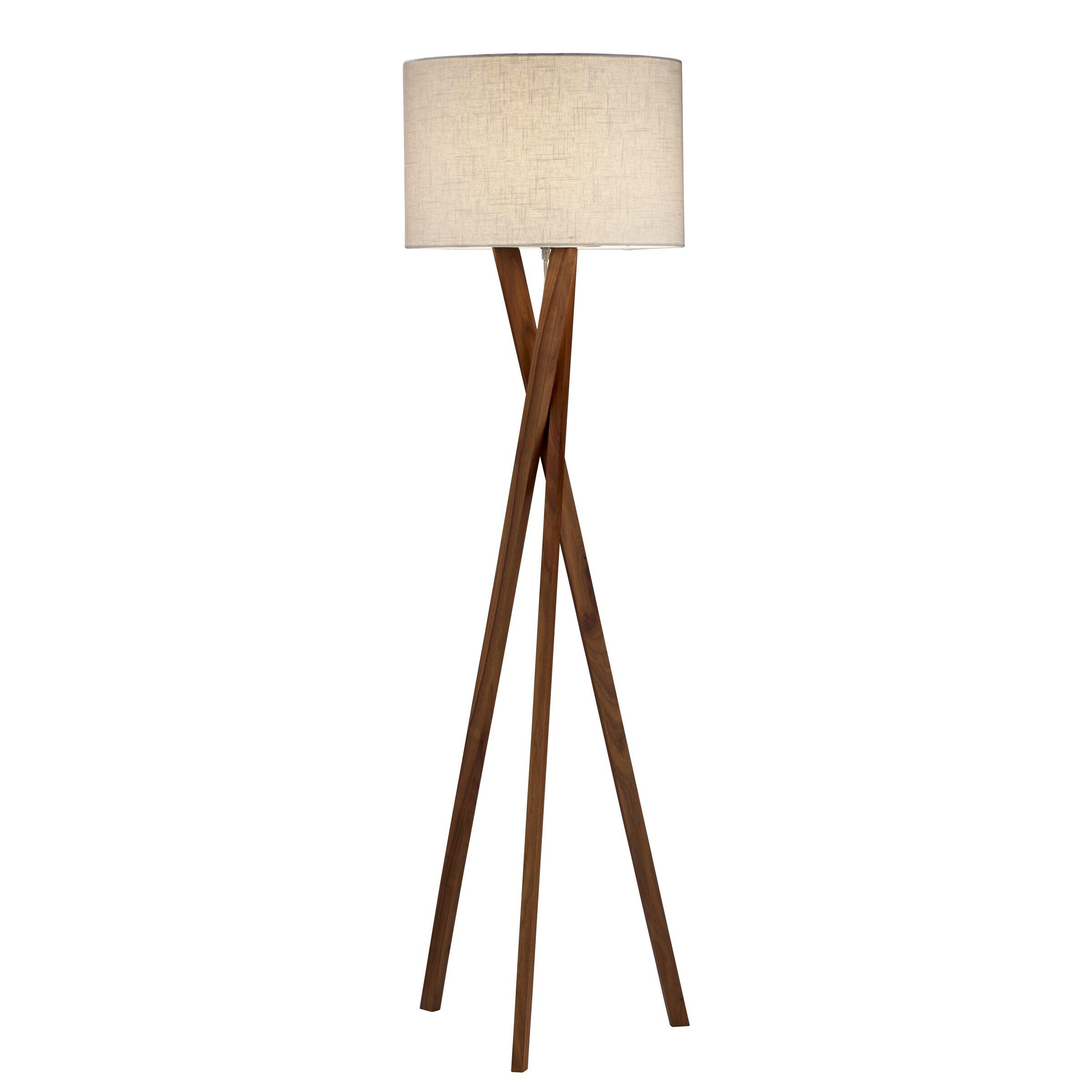 Adesso brooklyn 63quot tripod floor lamp reviews wayfair for Wayfair adesso floor lamp
