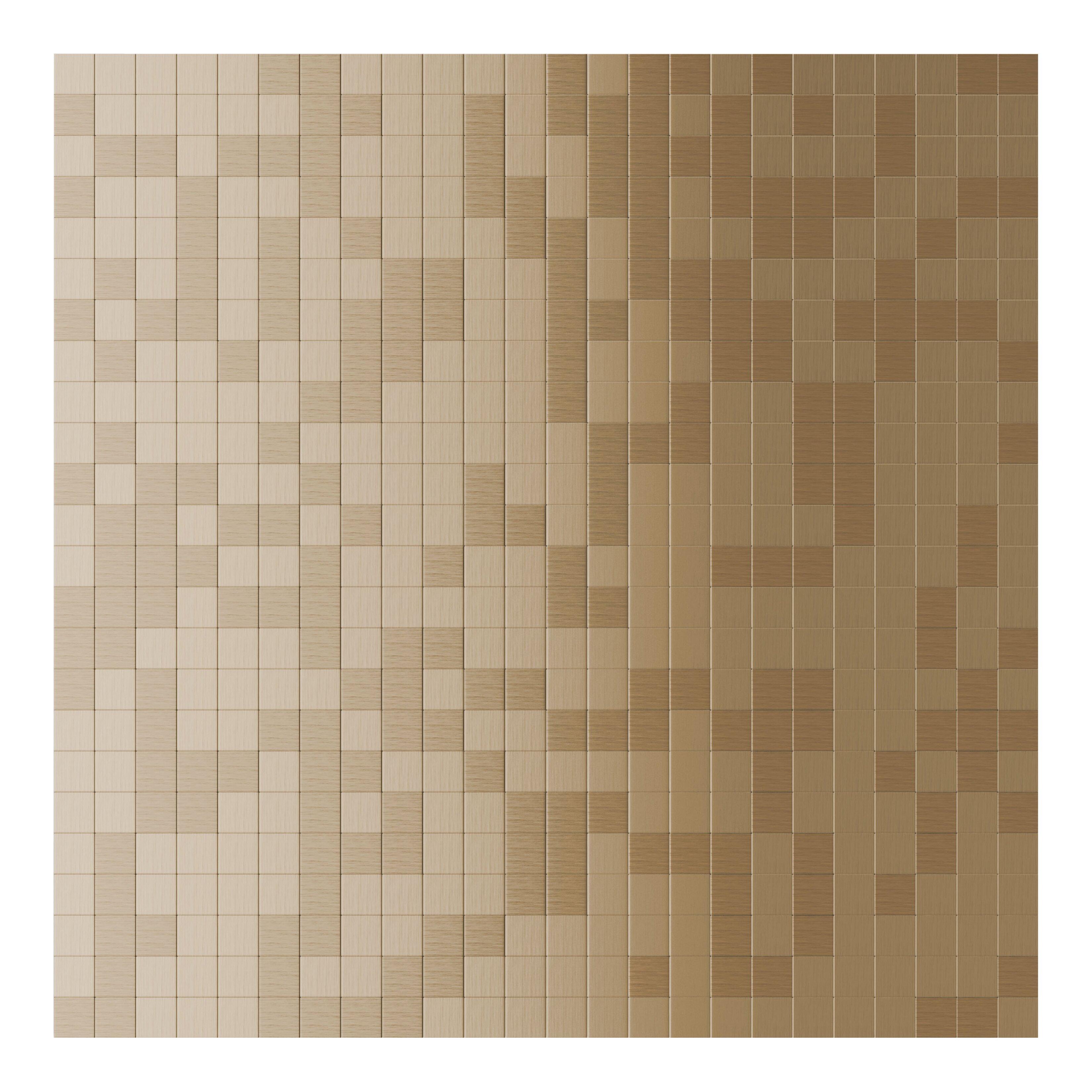 inoxia speedtiles x metal peel stick mosaic tile in copper wayfair supply. Black Bedroom Furniture Sets. Home Design Ideas
