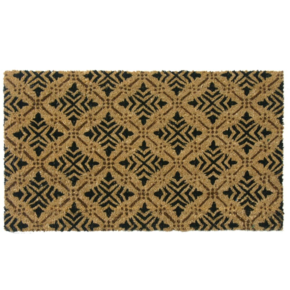 Rubber cal inc classic fleur de lis french home doormat reviews wayfair - Fleur de lis doormat ...