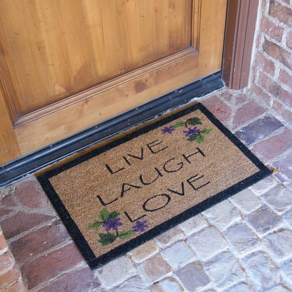 Rubber Cal Inc Live Laugh Love Novelty Doormat