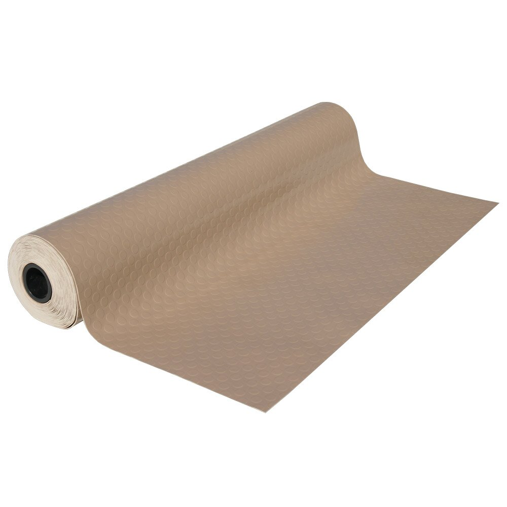 "My Dog Ate Carpet Fibers: Rubber-Cal, Inc. Metallic ""Coin-Grip"" Beige 4ft X 9ft"
