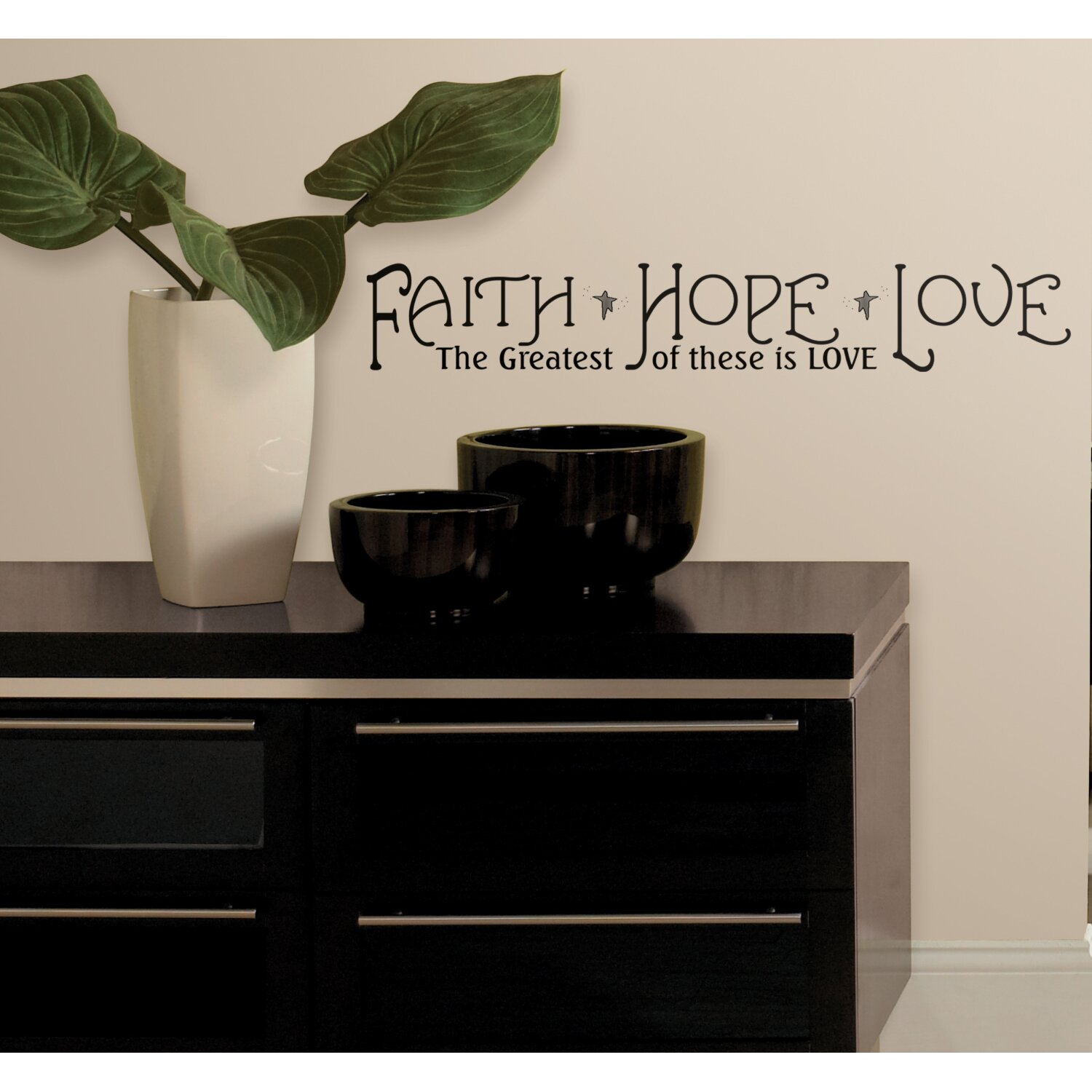 Wallhogs Faith Hope And Love Quote Wall Decal Amp Reviews