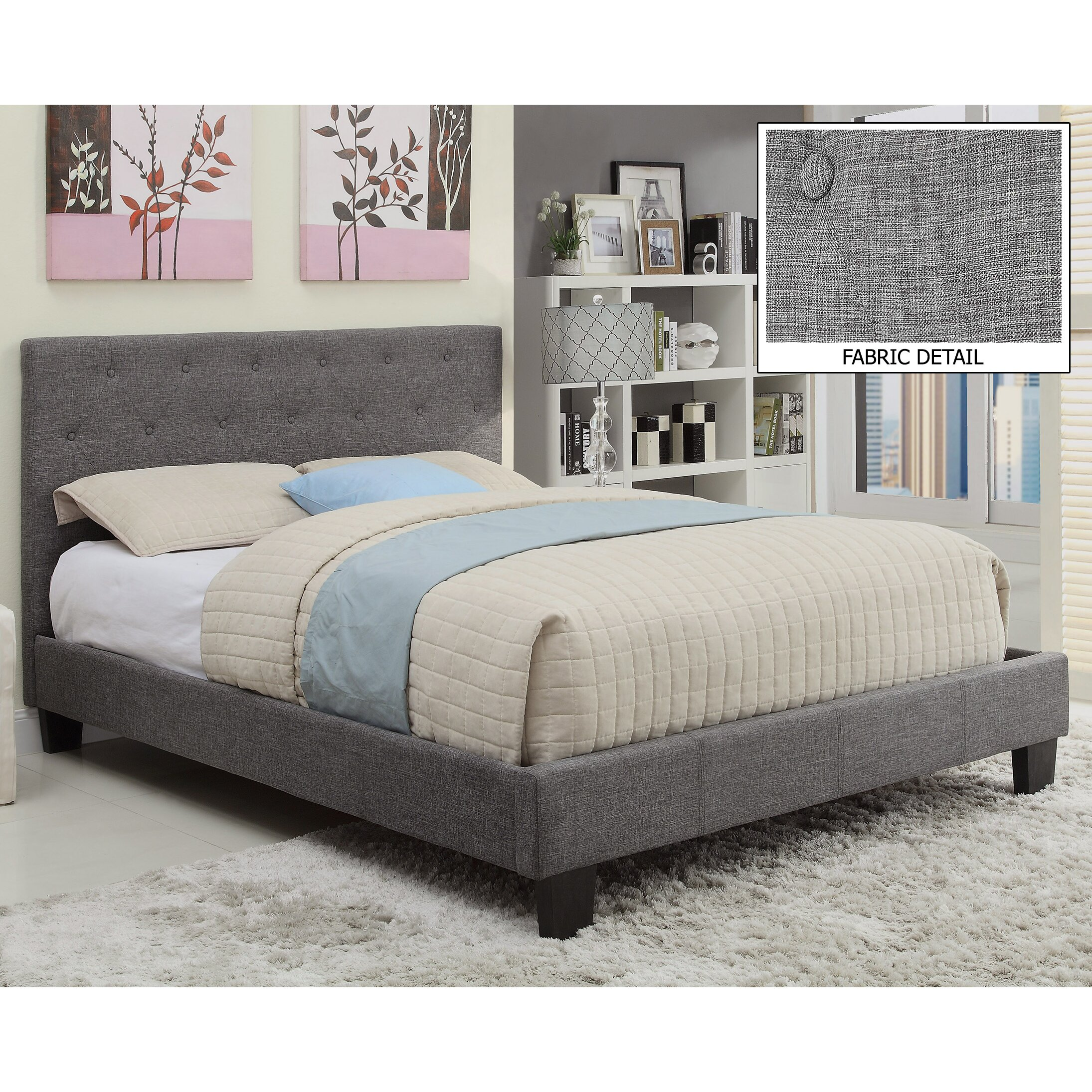 Worldwide Homefurnishings Upholstered Platform Bed Reviews Wayfair