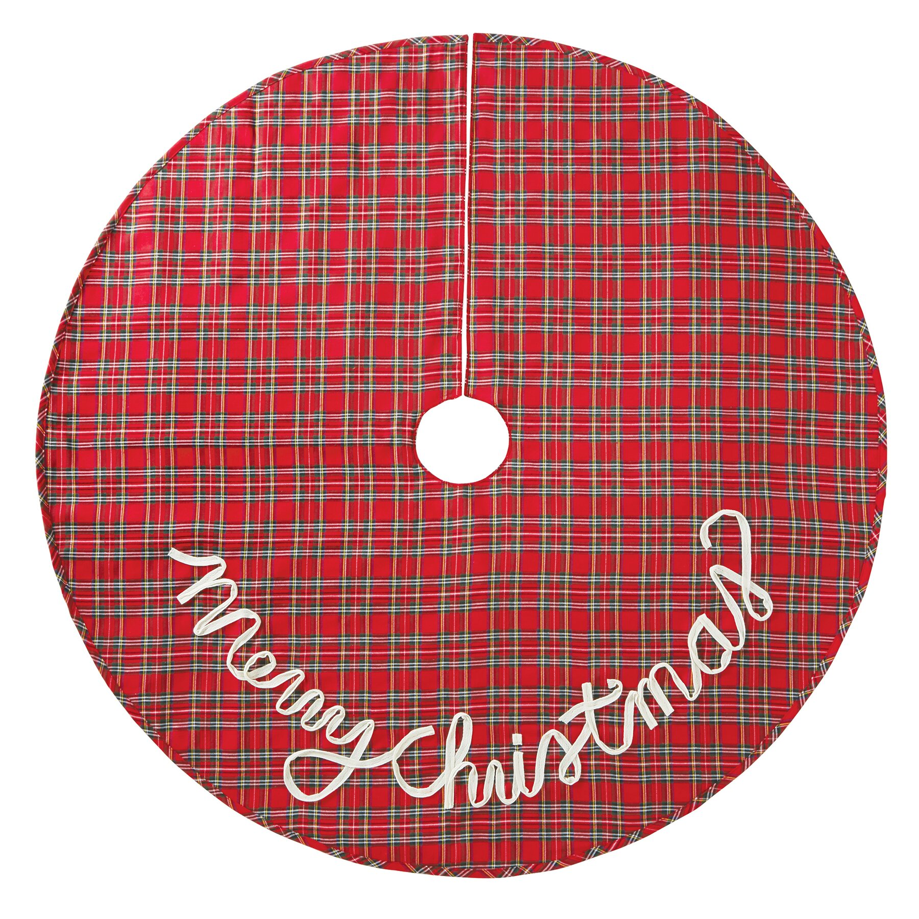 Mud Pie Tartan Plaid Christmas Tree Skirt Reviews Wayfair