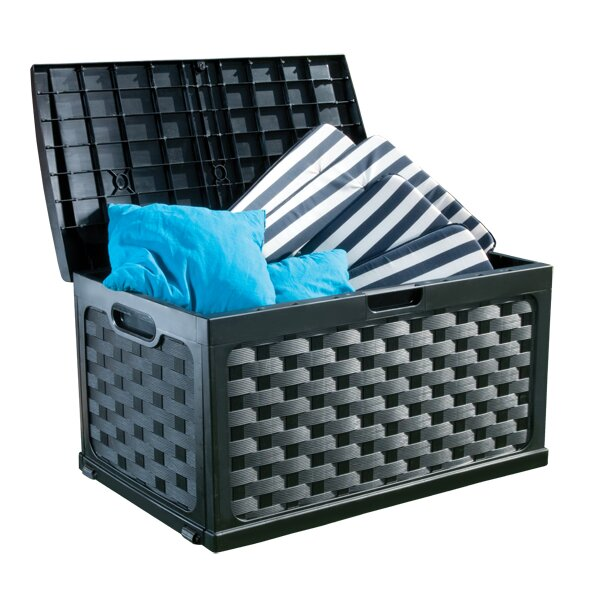 starplast 71 gallon plastic deck box reviews wayfair. Black Bedroom Furniture Sets. Home Design Ideas