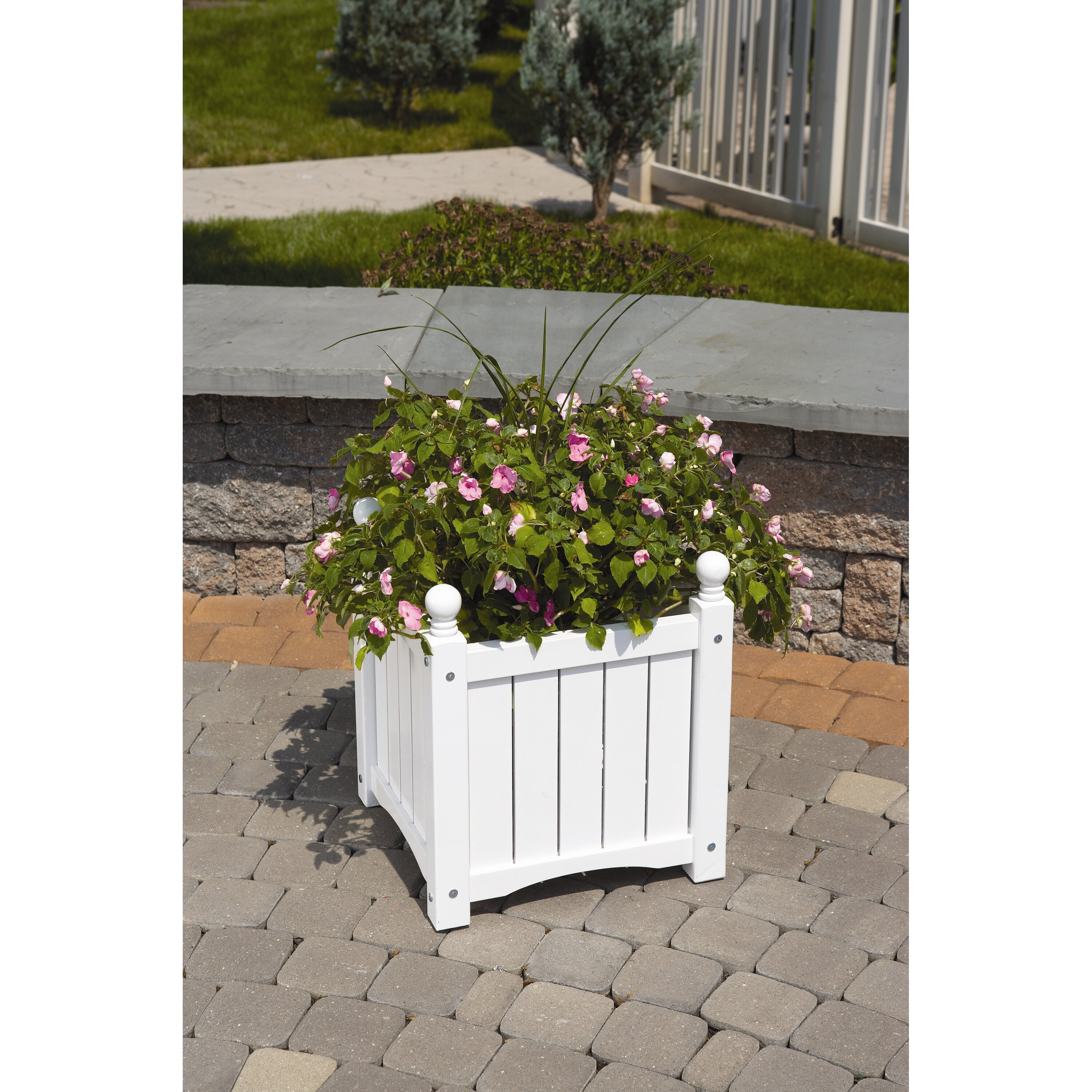 Dmc lexington square planter box reviews wayfair for Wayfair garden box
