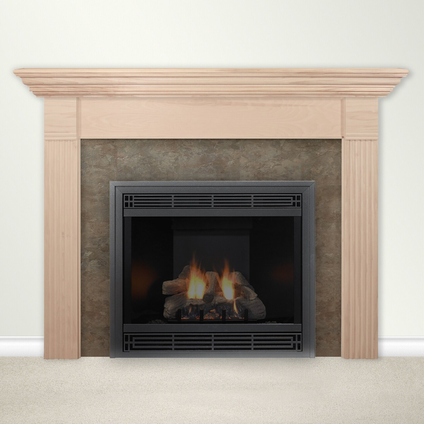 housewarmer fireplace mantel surround with shelf reviews wayfair. Black Bedroom Furniture Sets. Home Design Ideas