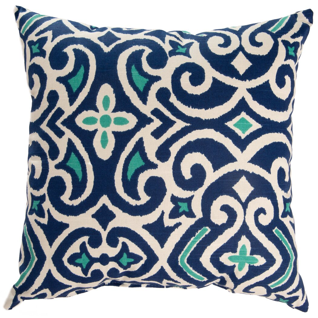 Throw Pillows Damask : Swan Dye and Printing New Damask Throw Pillow & Reviews Wayfair.ca