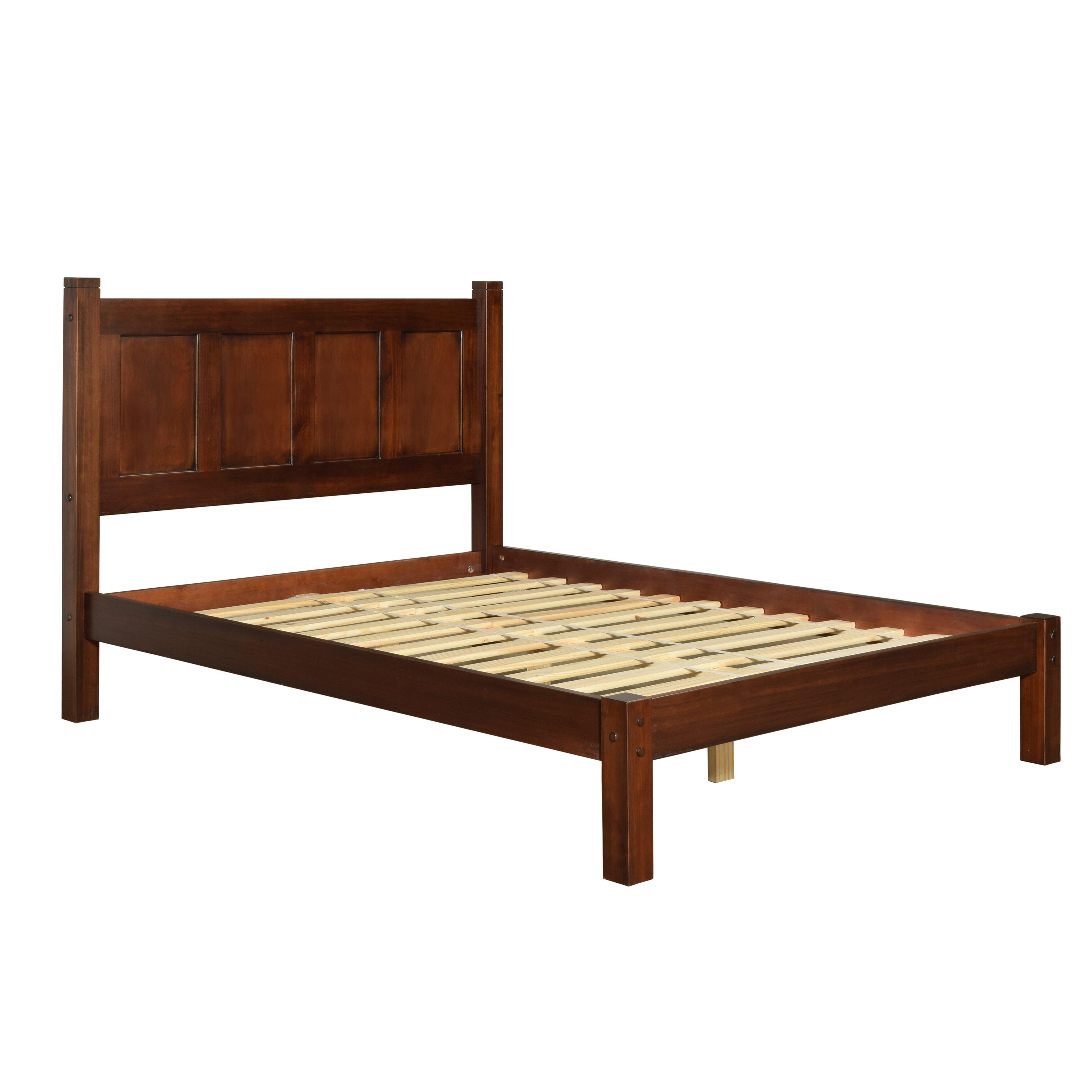 Grain wood furniture shaker platform bed reviews wayfair for Bed in furniture