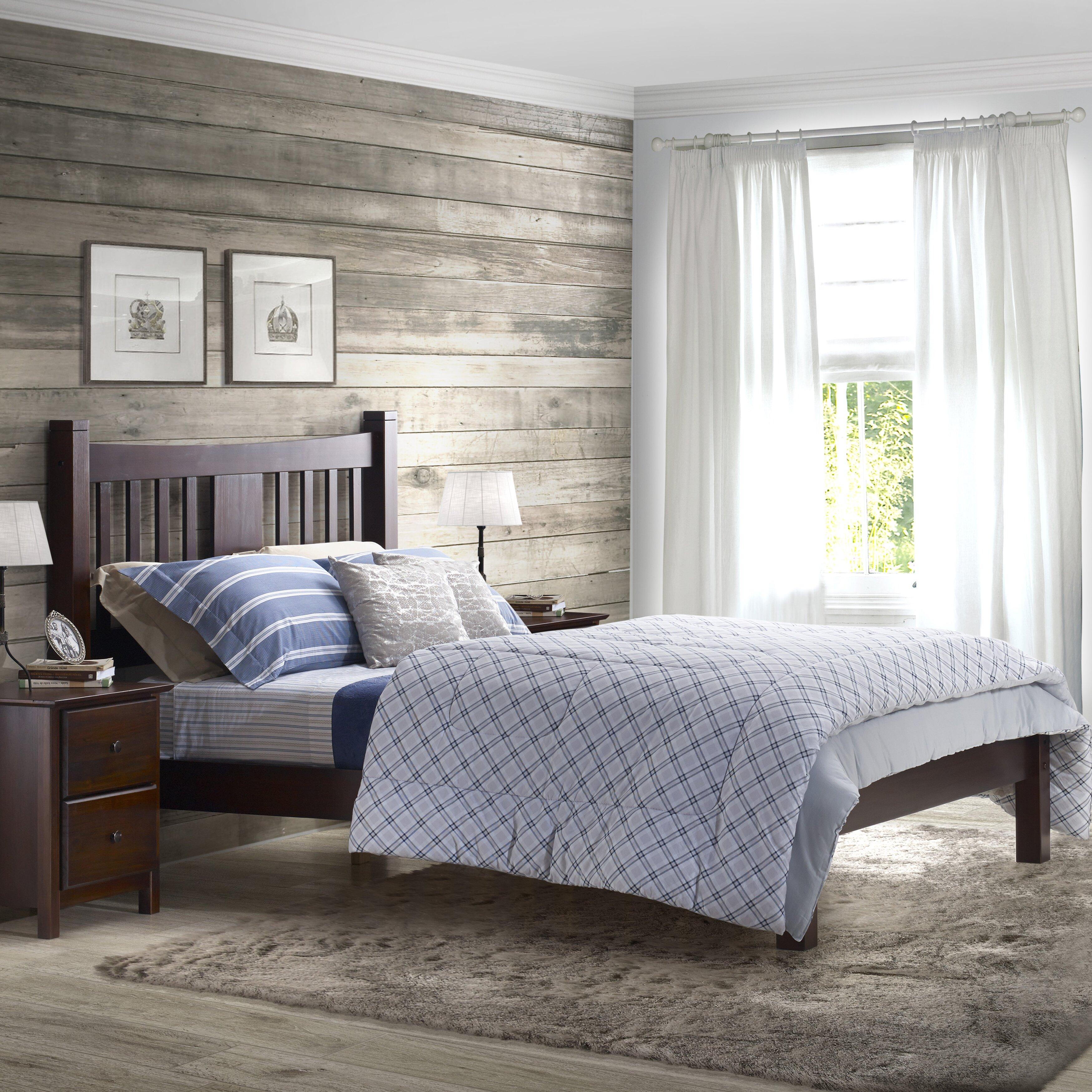 grain wood furniture shaker platform bed reviews wayfair. Black Bedroom Furniture Sets. Home Design Ideas