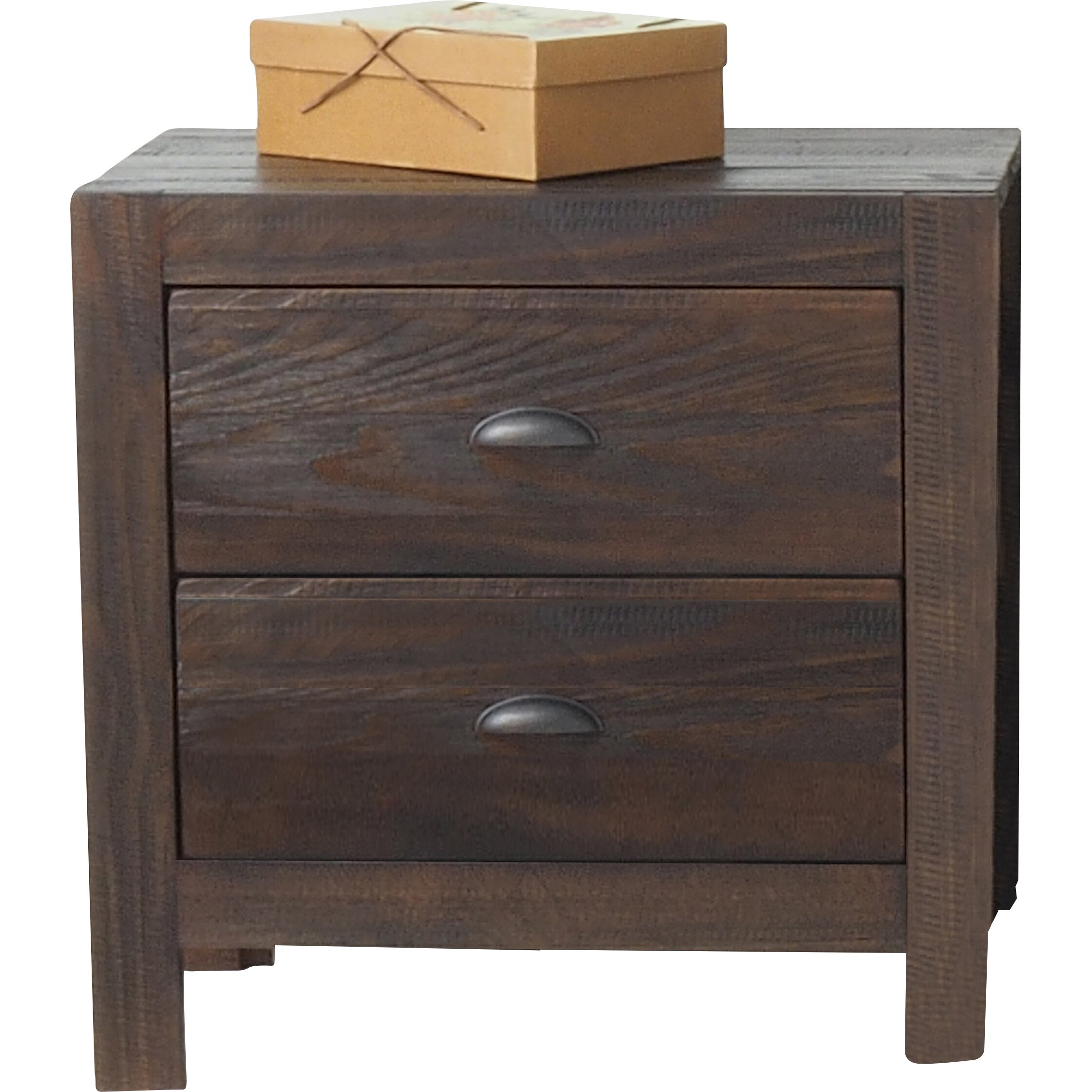 Grain Wood Furniture Montauk 2 Drawer Nightstand & Reviews Wayfair. Full resolution  image, nominally Width 2240 Height 2240 pixels, image with #9A6C31.