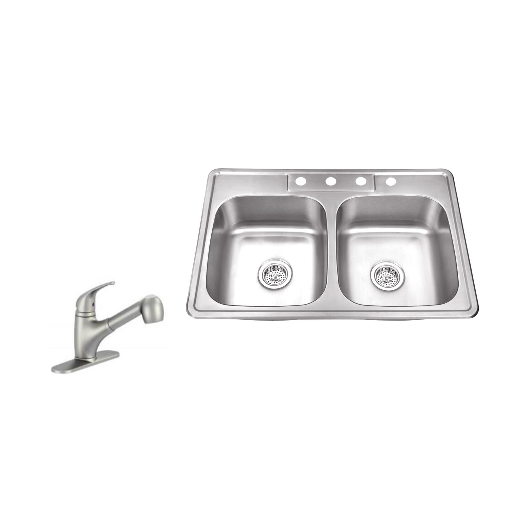 drop in stainless steel kitchen sinks soleil 33 quot x 22 quot bowl drop in stainless steel 9626