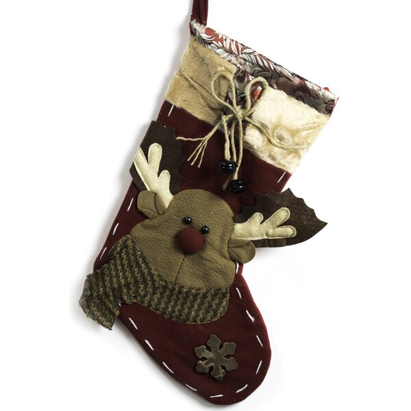 Imperial Home Reindeer with Bells Stocking amp Reviews Wayfair : Imperial Home Classic Christmas Stockings 19 Embroidered Fleece Santa Holiday Stockings W Jingle Bells MW17 from www.wayfair.com size 600 x 600 jpeg 43kB