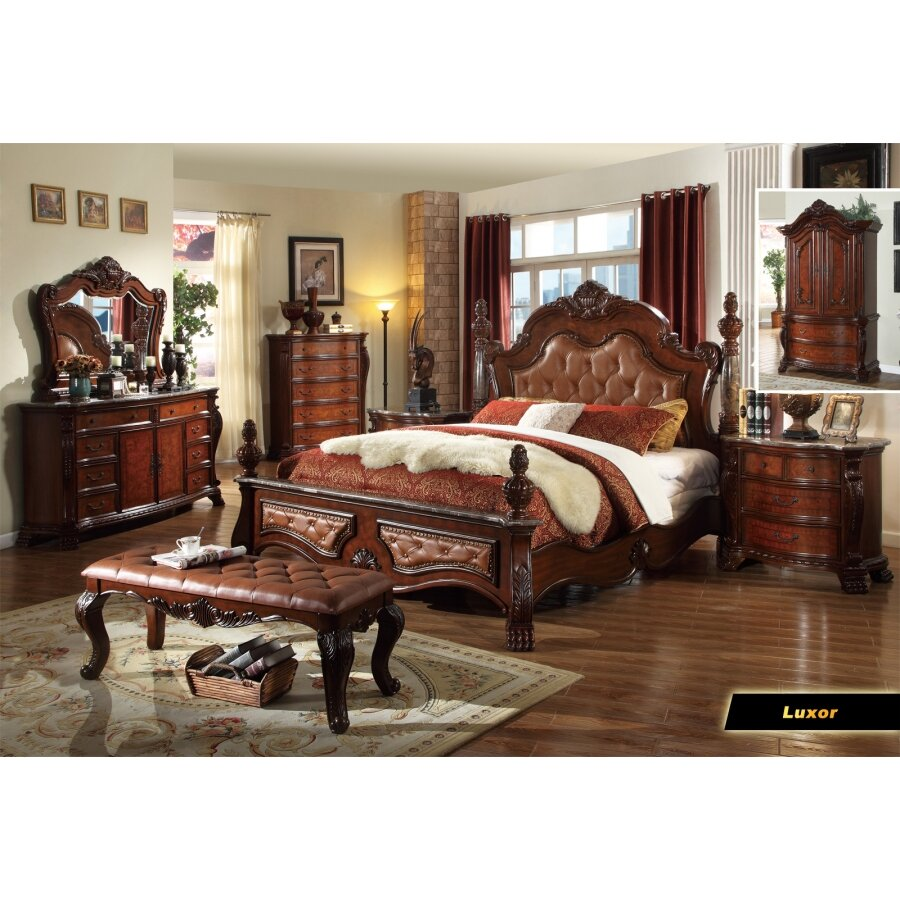 Meridian furniture usa luxor panel customizable bedroom for Bedroom furniture usa