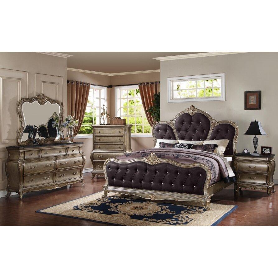 Meridian Furniture Usa Roma 7 Drawer Dresser With Mirror