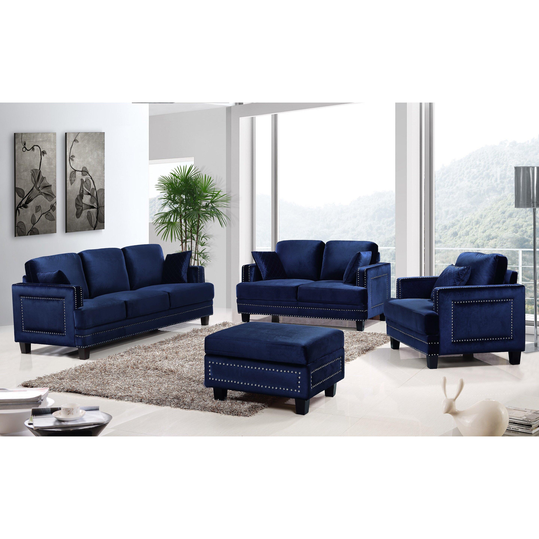 Meridian Furniture Usa Ferrara Nailhead Sofa Amp Reviews