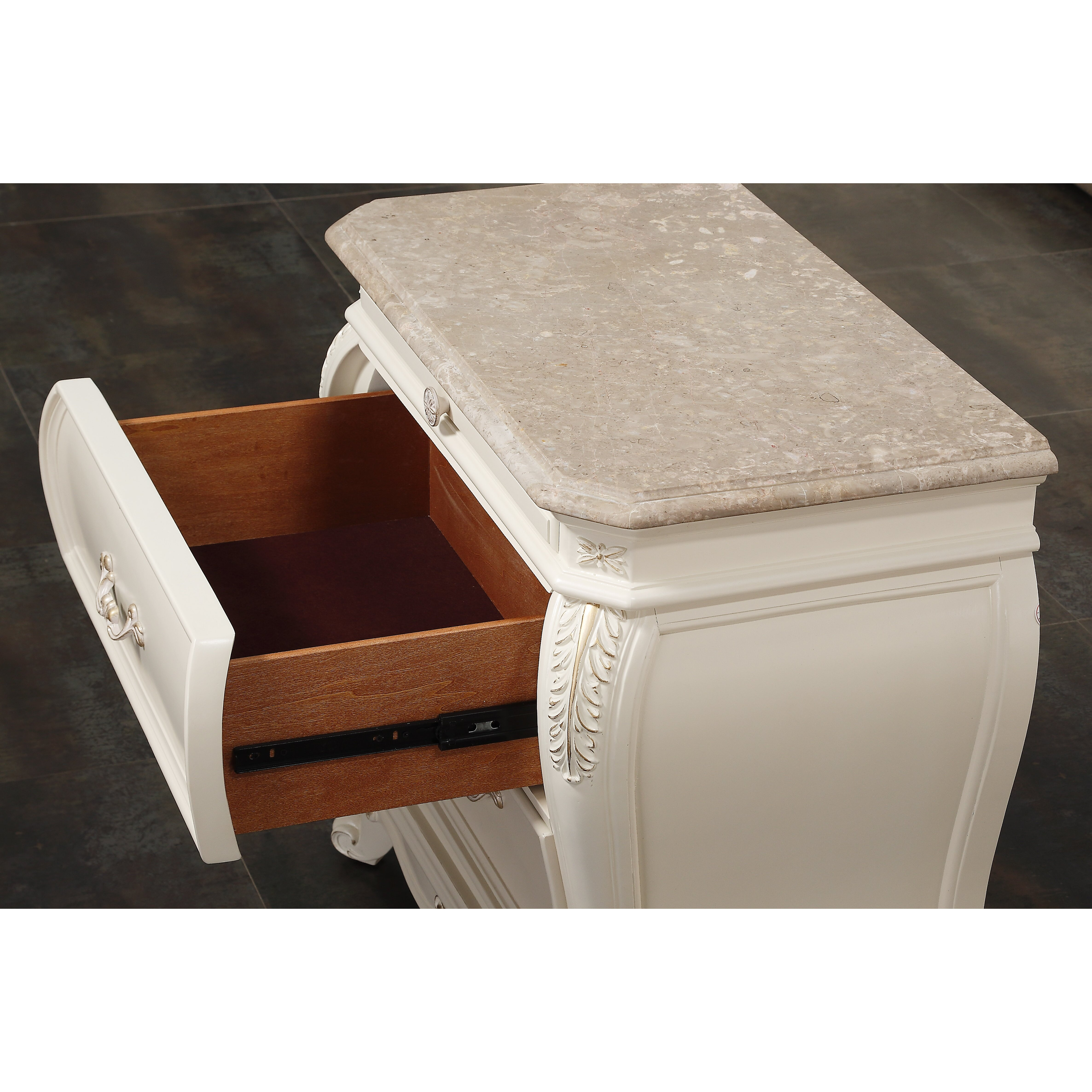 Meridian furniture usa marquee 2 drawer nightstand for Furniture usa