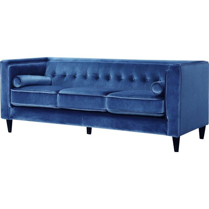 meridian furniture usa taylor velvet sofa reviews wayfair