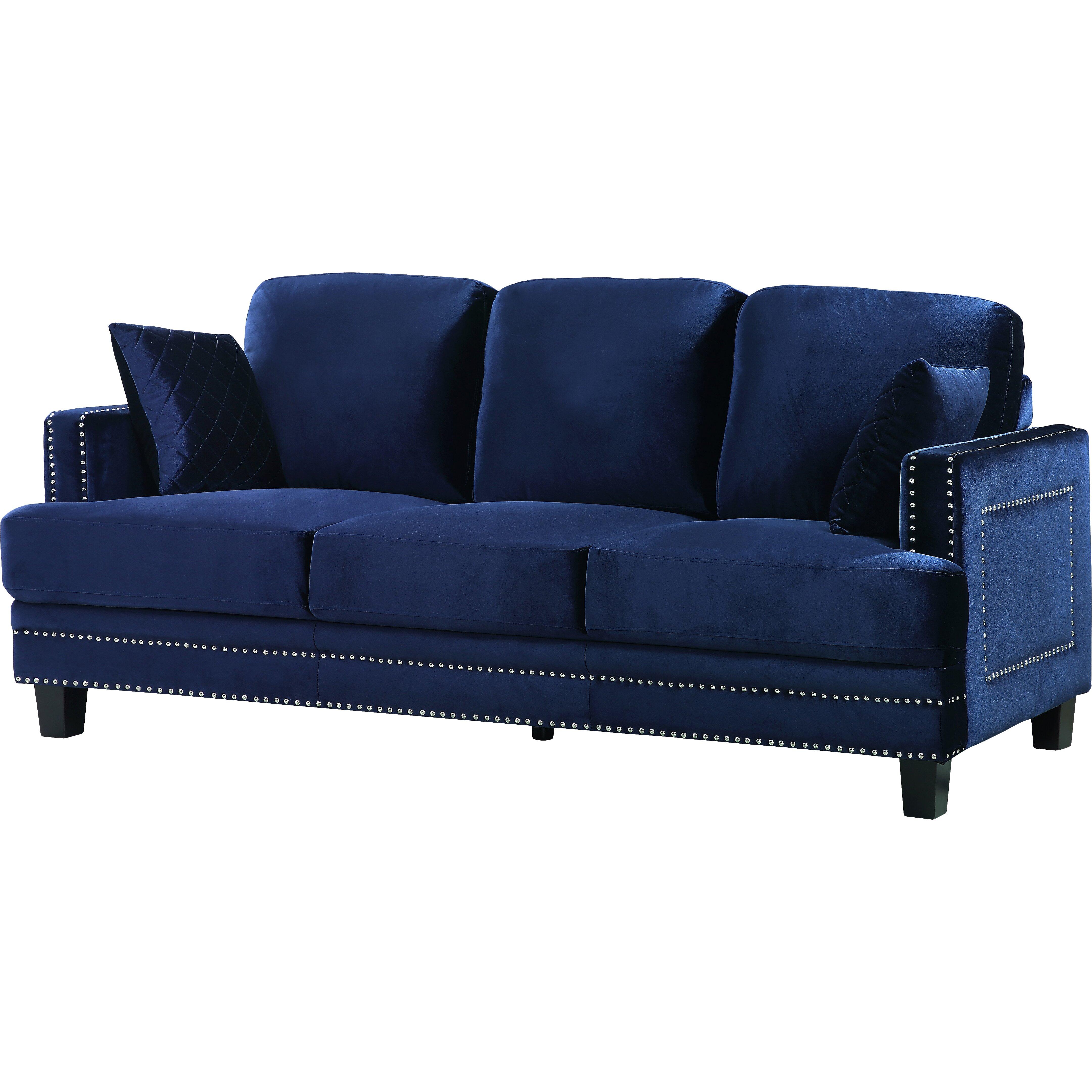 Meridian Furniture Usa Ferrara Nailhead Sofa Reviews Wayfair