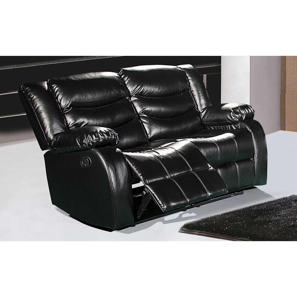 Meridian furniture usa reclining loveseat reviews wayfair for Furniture usa