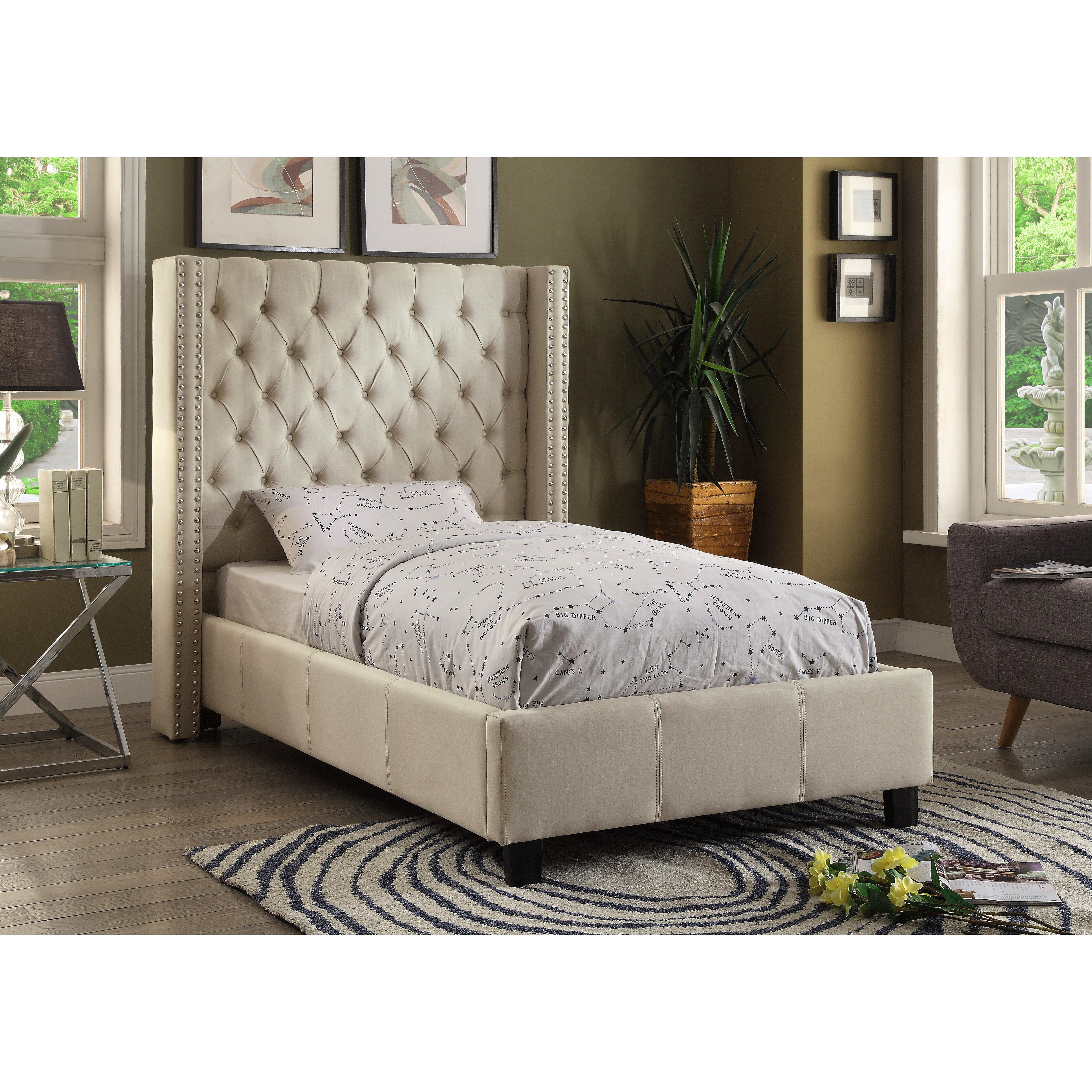 Meridian Furniture Usa Upholstered Platform Bed Reviews Wayfair Supply