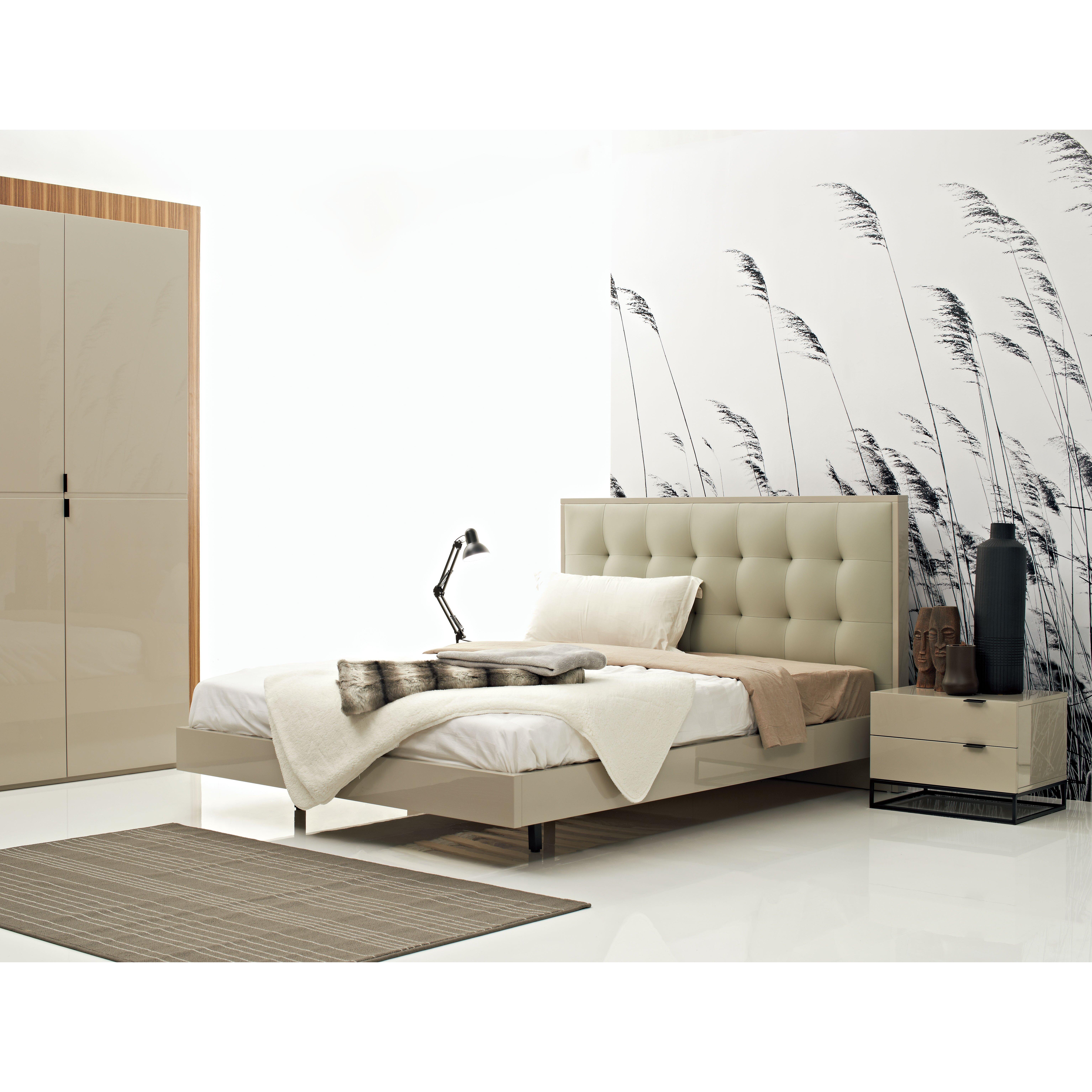 argo furniture devitto queen platform customizable bedroom