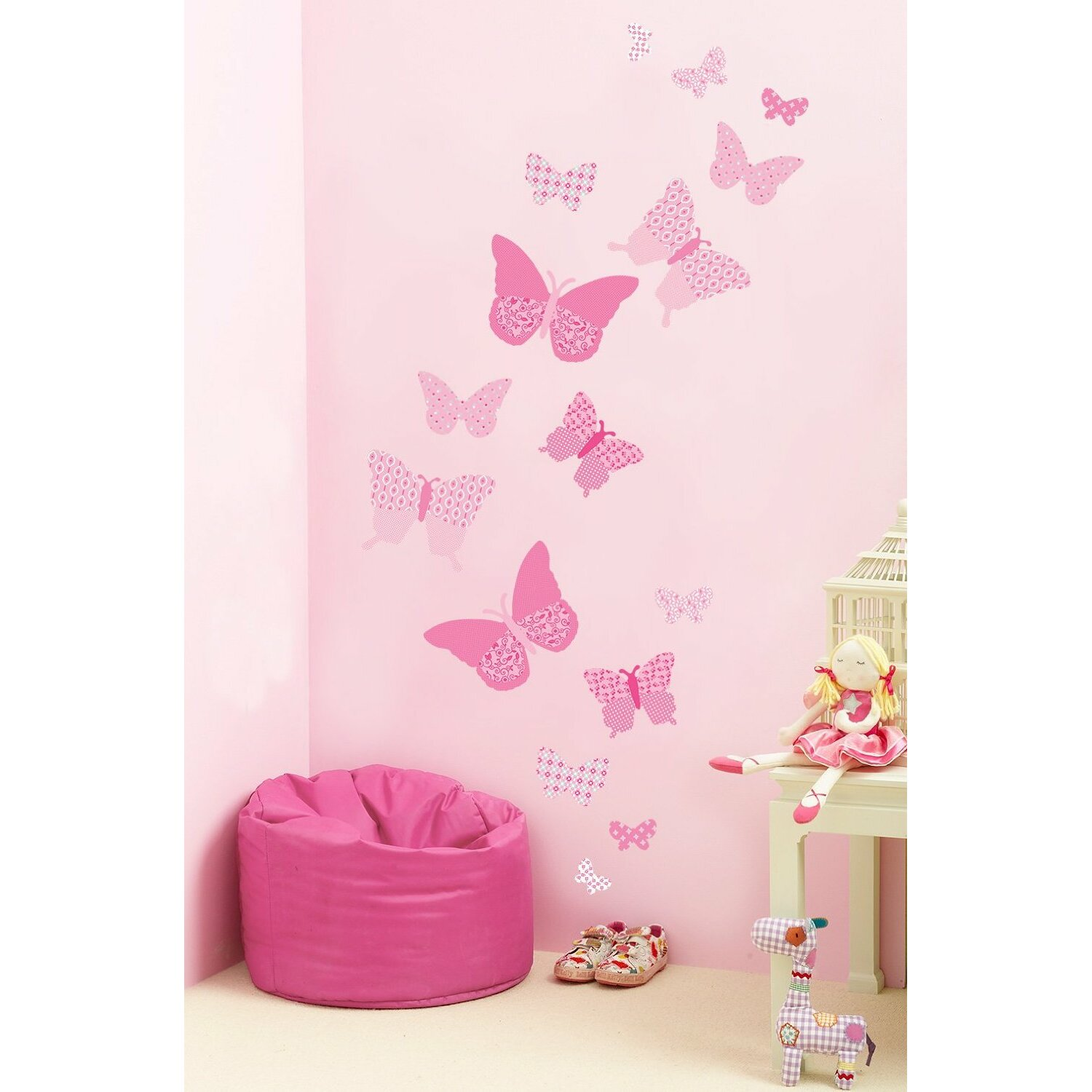fun to see vintage butterflies wall decal amp reviews wayfair fun to see undersea adventure stickers wall art amp stickers