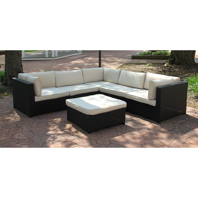 Northlight outdoor furniture sectional sofa set with for Outdoor furniture wayfair