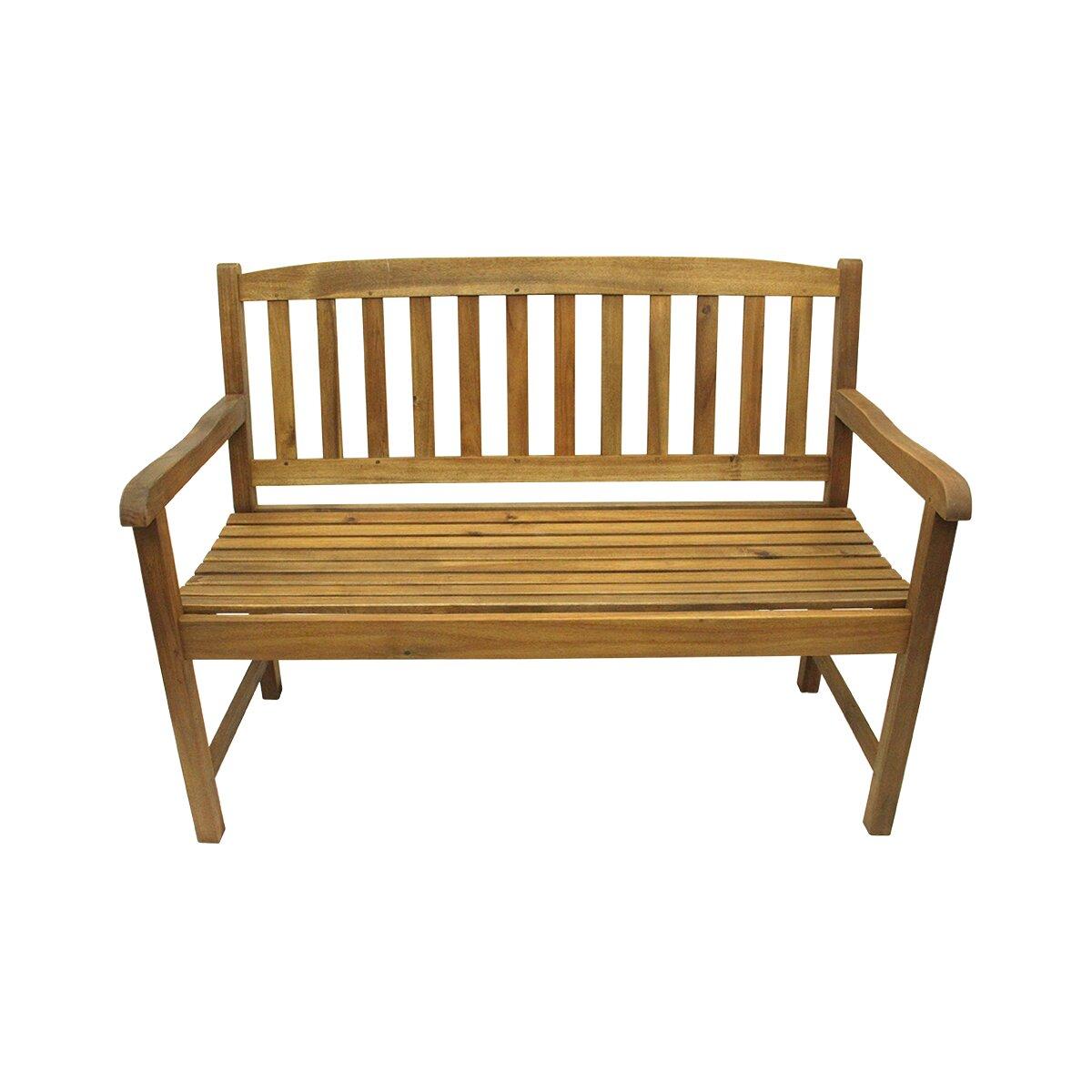 Northlight Acacia Wood Outdoor Patio Garden Bench