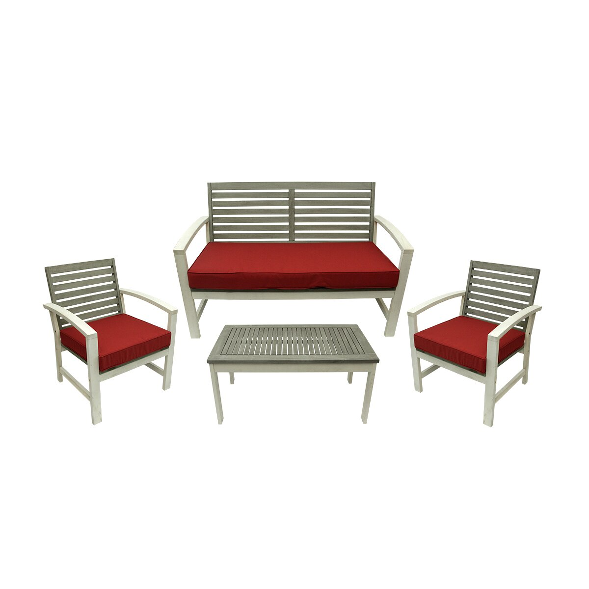 Northlight 4 piece acacia wood outdoor furniture set wayfair for Outdoor furniture 4 piece