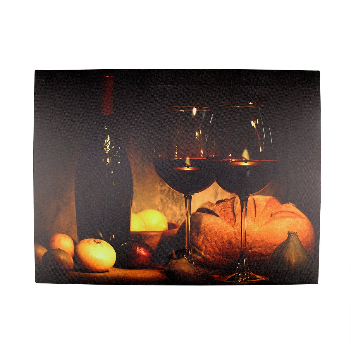 Northlight battery operated 2 led wine glass and bottle for Wine bottle christmas tree frame for sale