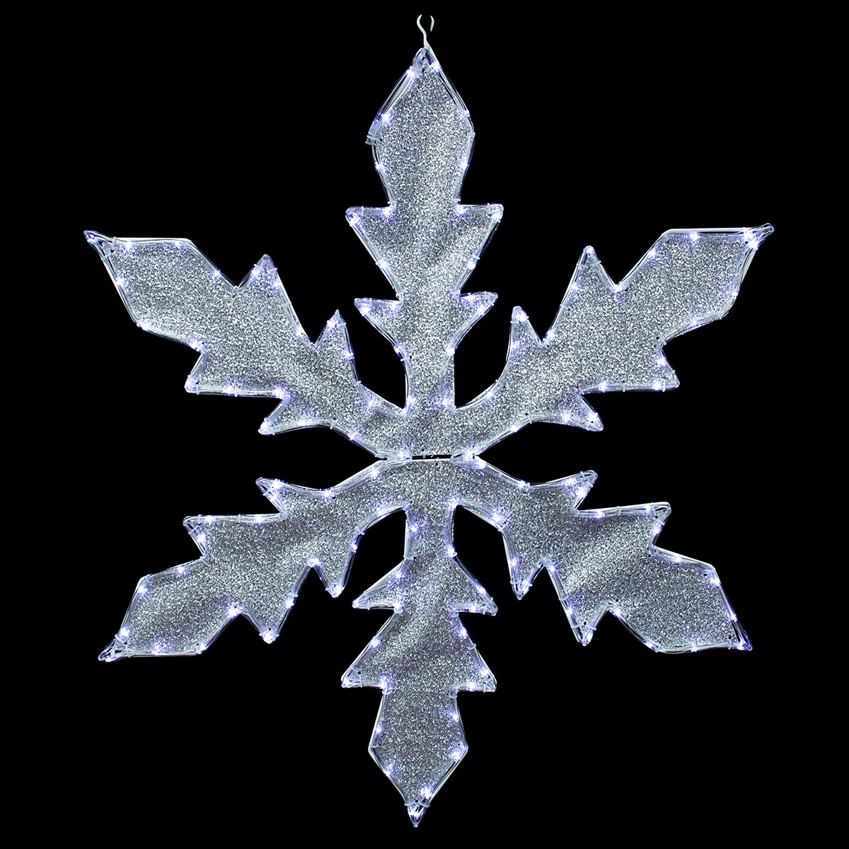 Northlight lighted indoor outdoor tube light snowflake - Snowflake exterior christmas lights ...