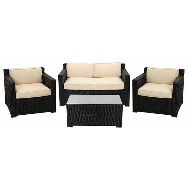 Northlight 4 Piece Outdoor Patio Furniture Set with