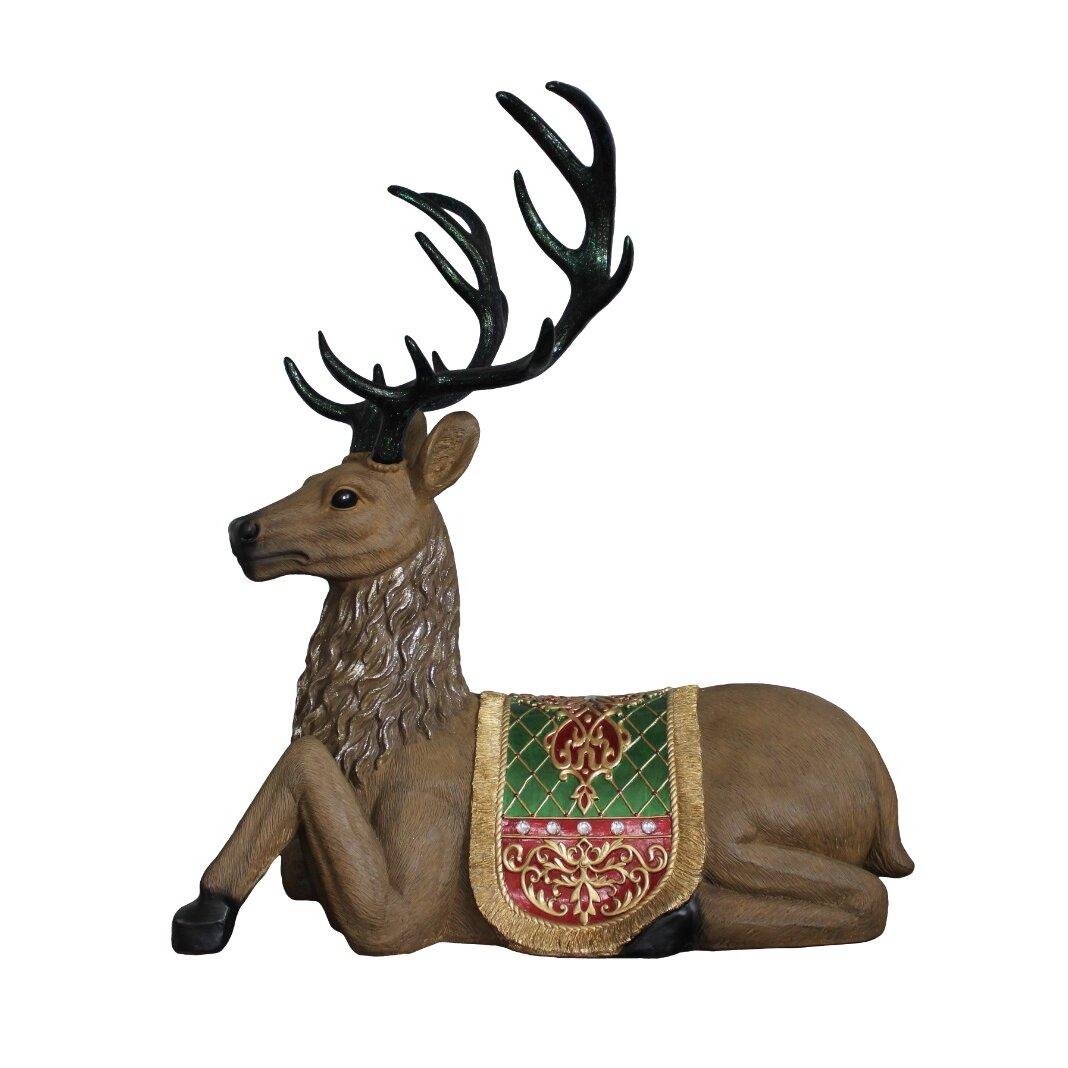 Commercial Grade Christmas Decorations: Northlight Commercial Grade Sitting Reindeer Fiberglass