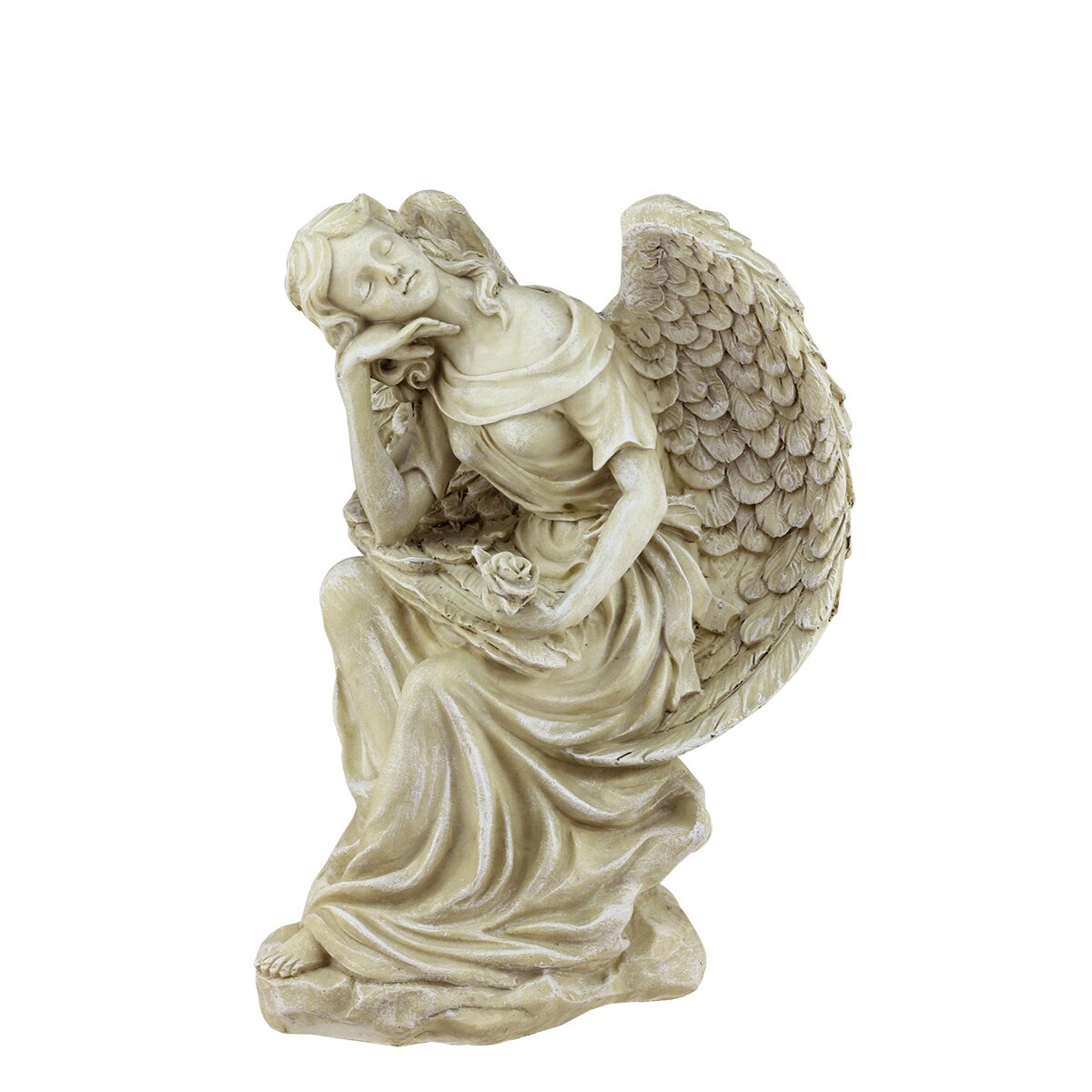 Northlight Heavenly Gardens Daydreaming Angel With Rose