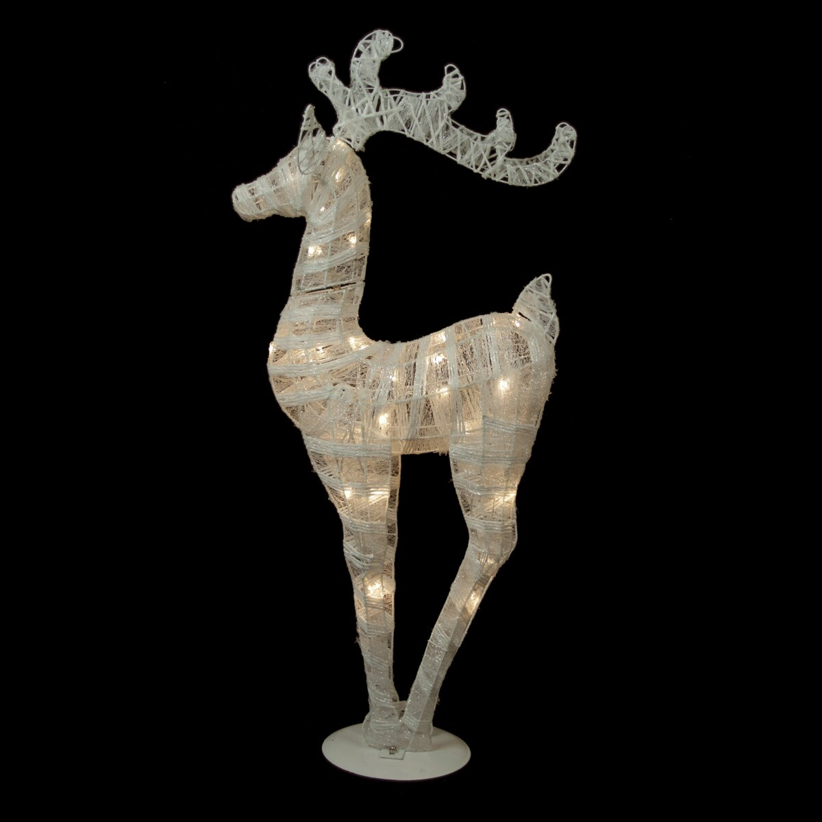 Northlight battery operated glittered led lighted reindeer