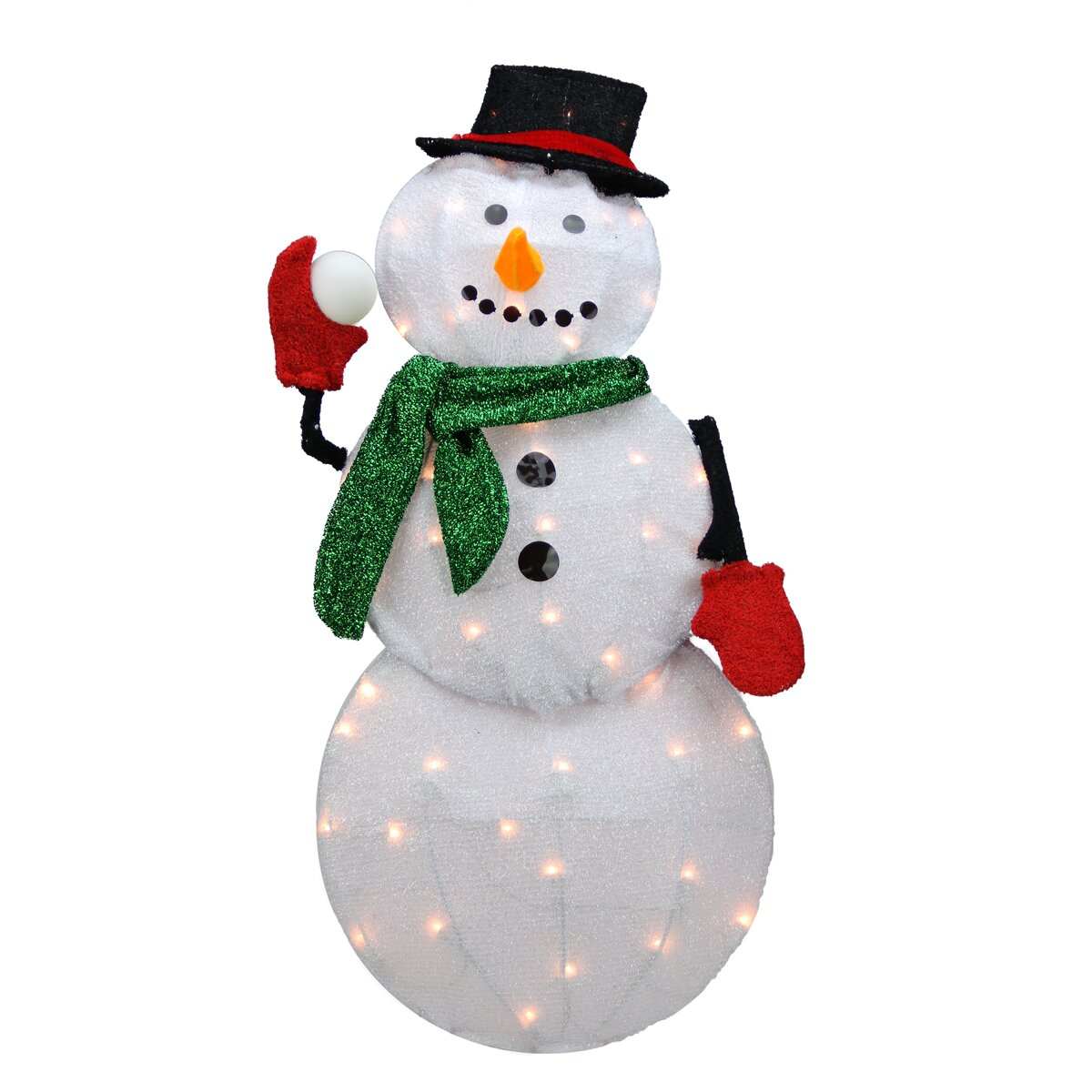 Northlight candy lane pre lit cane 2d winter snowman for Pre lit outdoor decorations