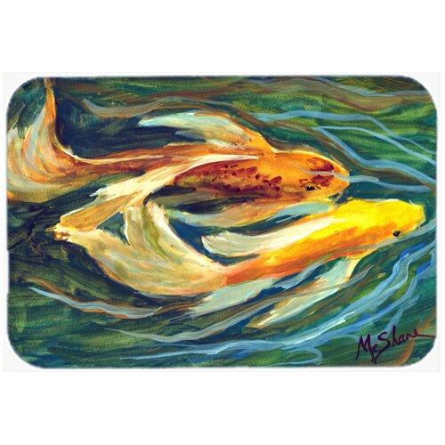 Caroline 39 s treasures fish koi kitchen bath mat wayfair for Fish bath mat