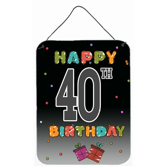 Caroline's Treasures Happy 40th Birthday By Denny Knight