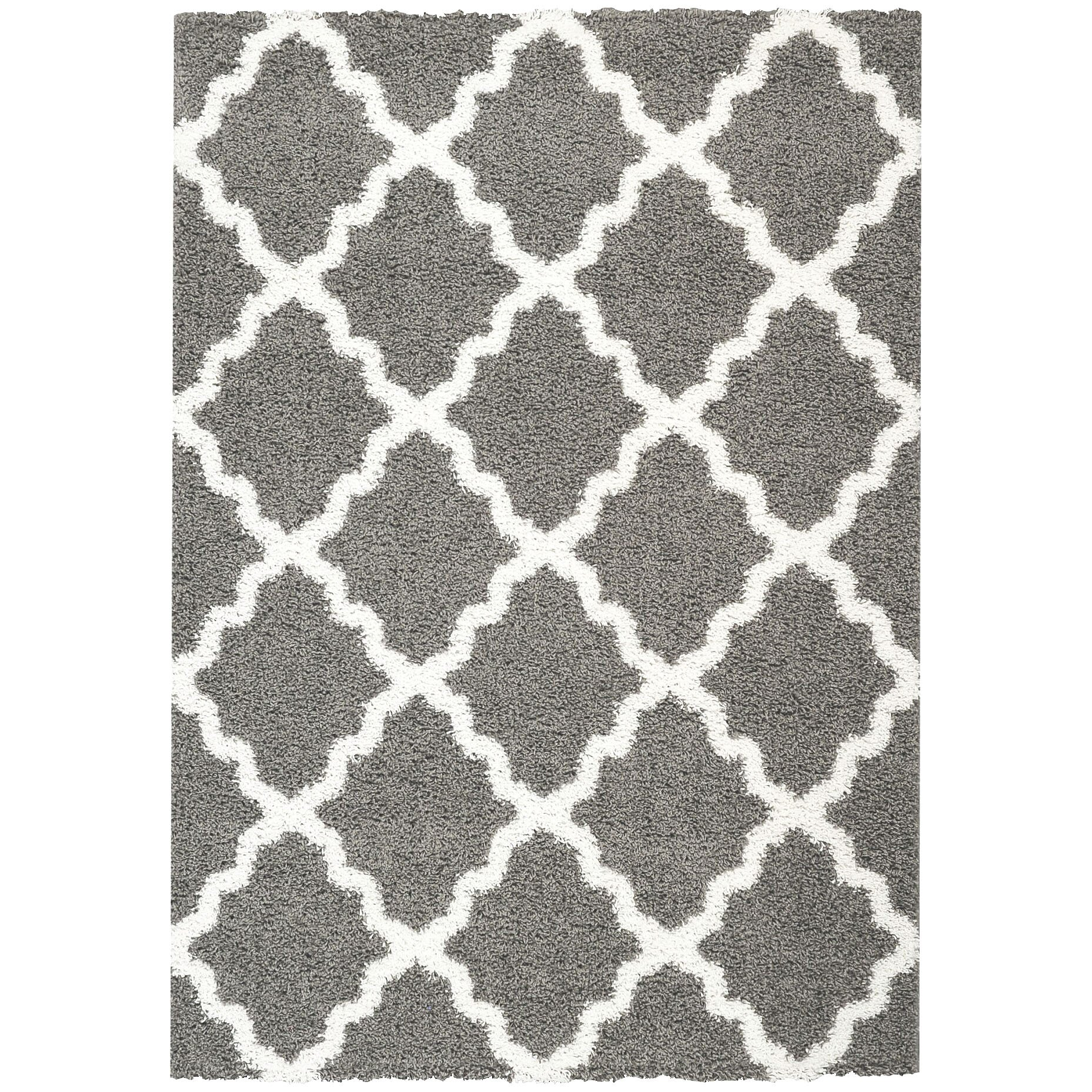 Rugnur bella maxy home moroccan trellis contemporary gray for White area rug