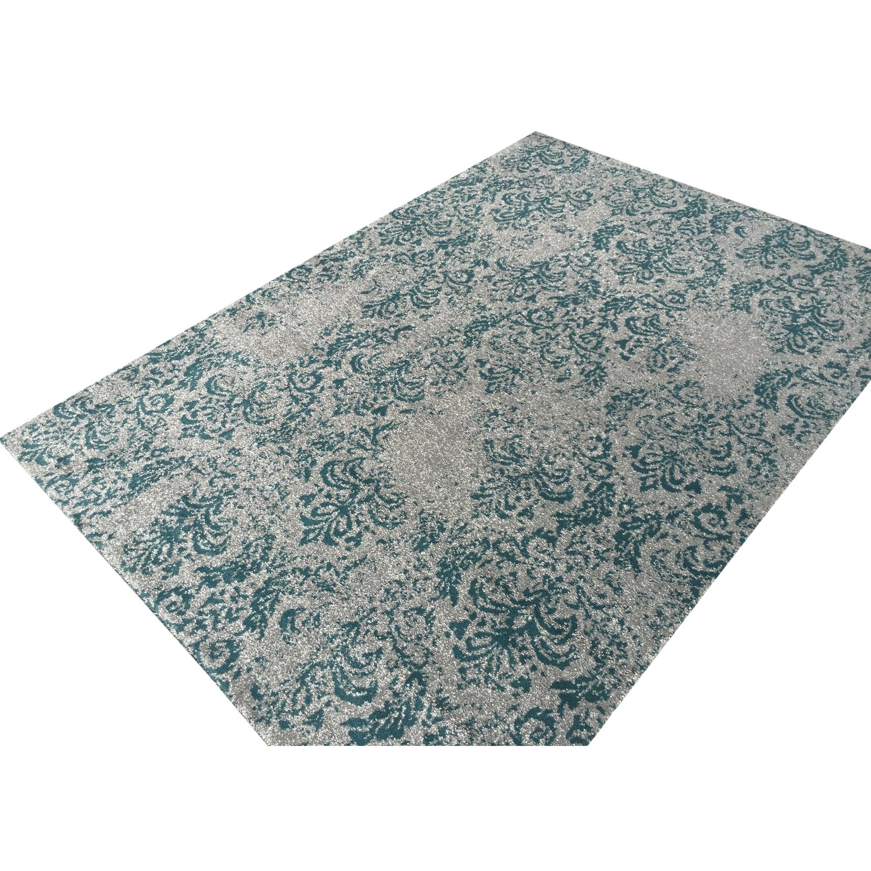Rugnur Zahra Teal/Blue Indoor/Outdoor Area Rug