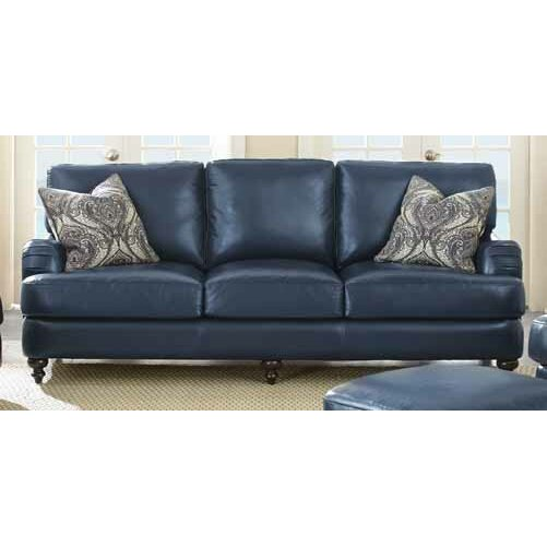 Darby Home Co Marissa Leather Sofa Reviews Wayfair