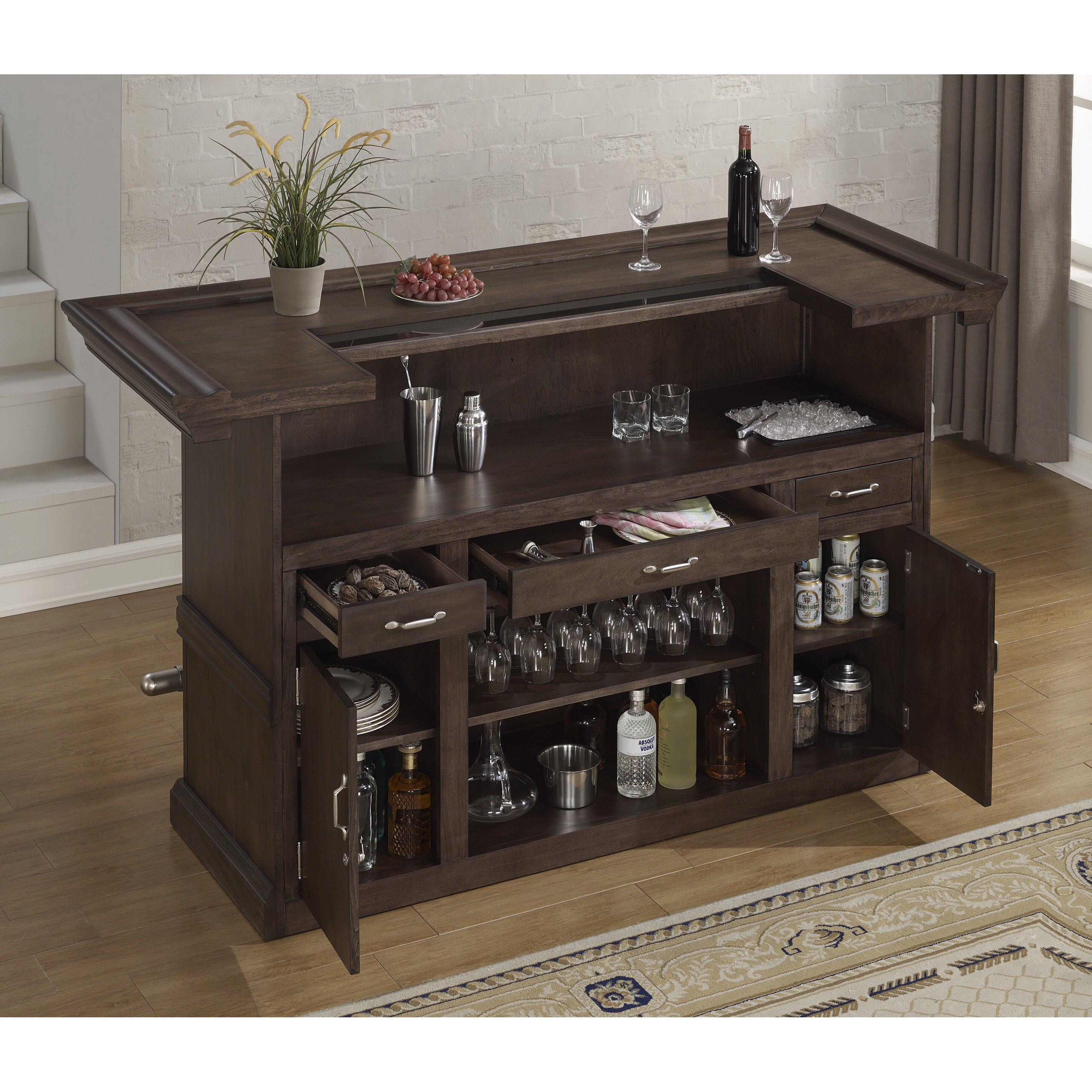Home Wine Bar: Darby Home Co Monmouth Bar With Wine Storage & Reviews