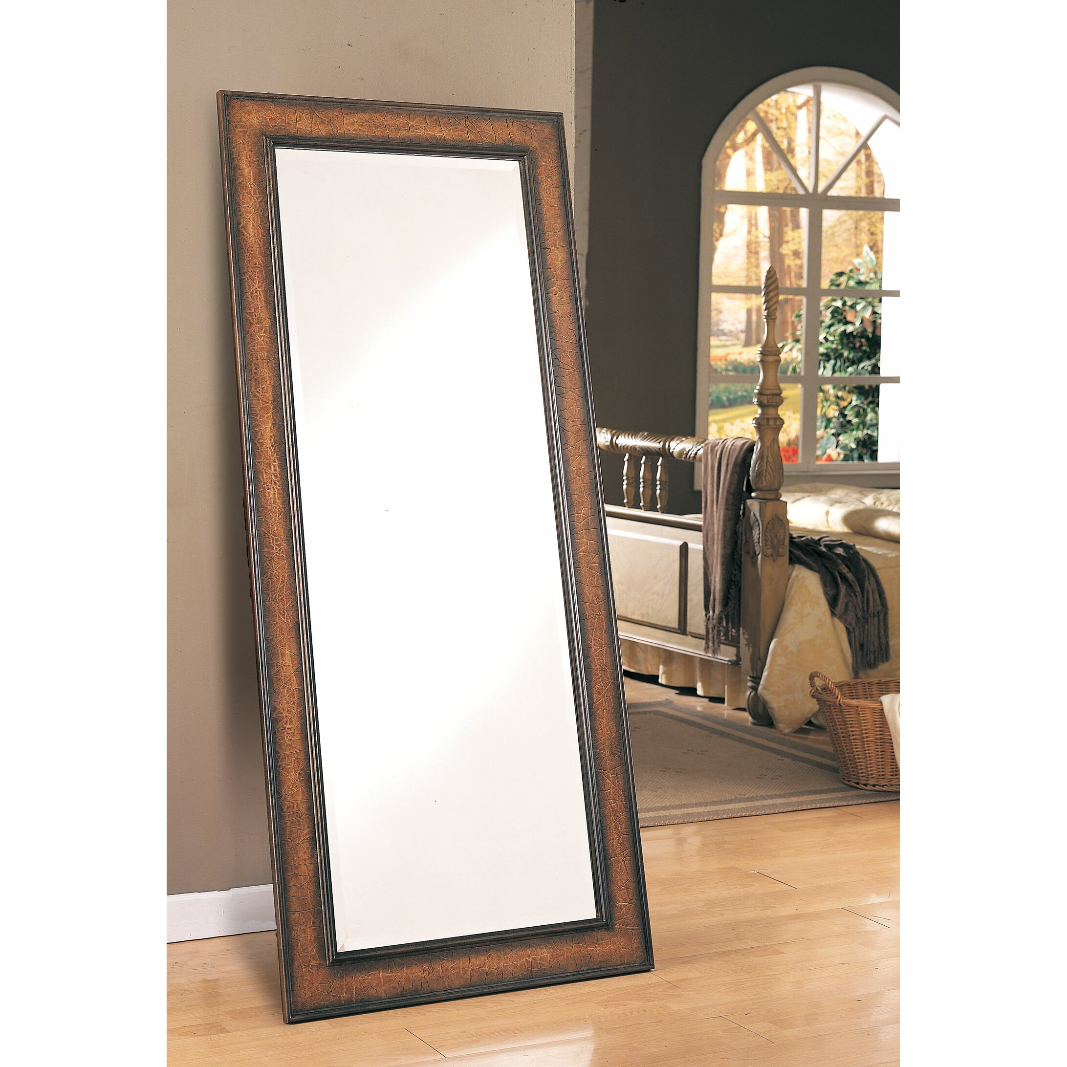 Darby home co russell leaning floor mirror reviews wayfair for Floor mirror